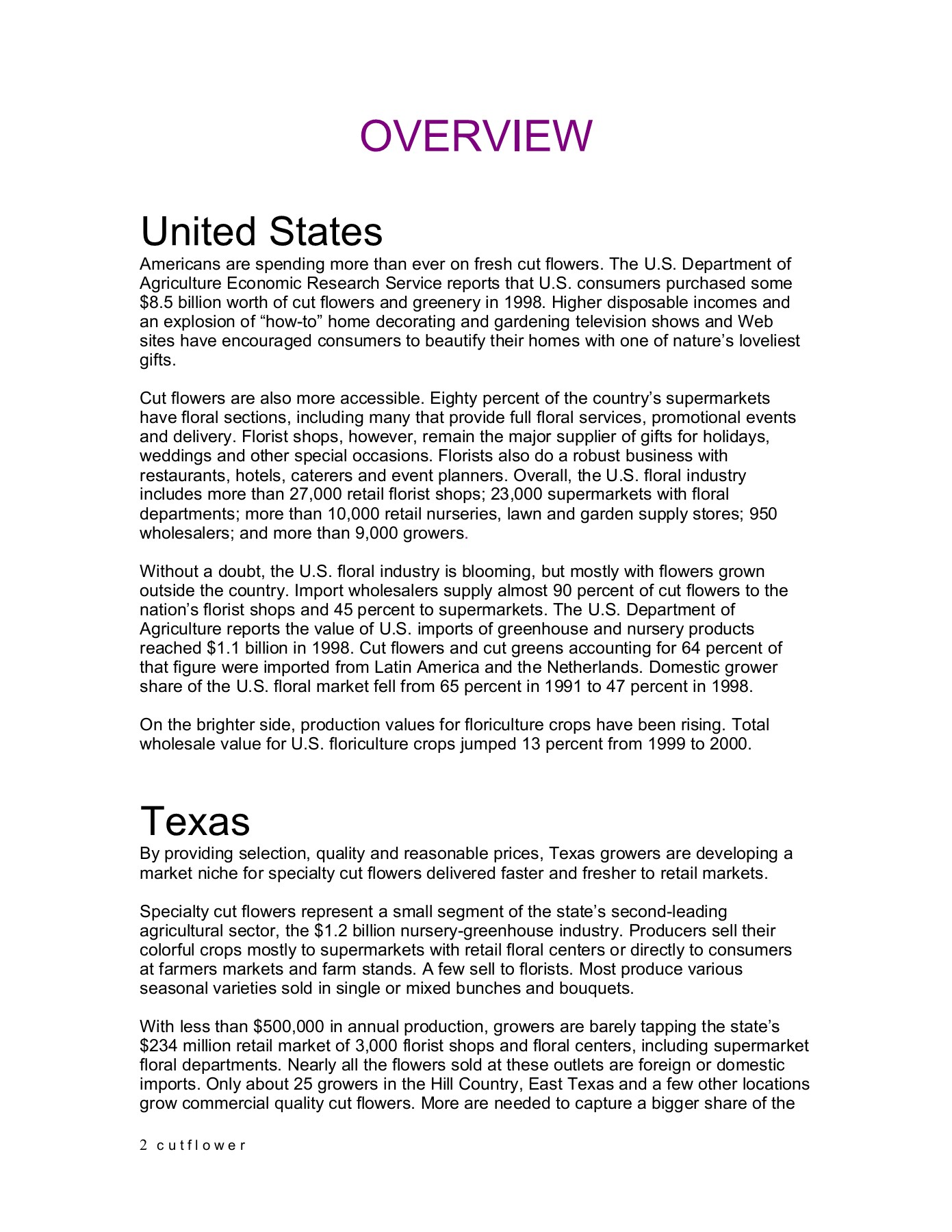 Cut Flower Manual - GO TEXAN Pages 1 - 31 - Text Version