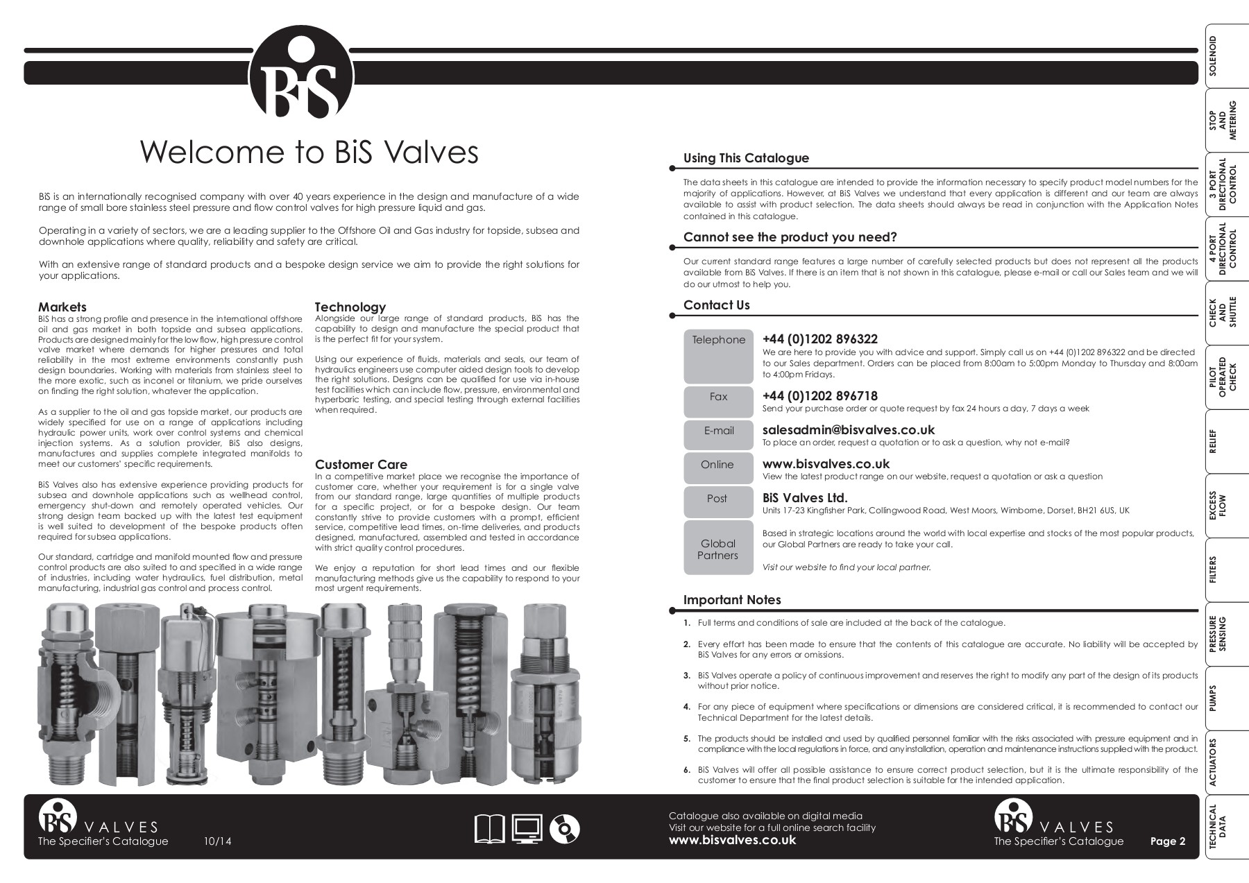 The Specifier's Catalogue - BiS Valves Pages 1 - 33 - Text