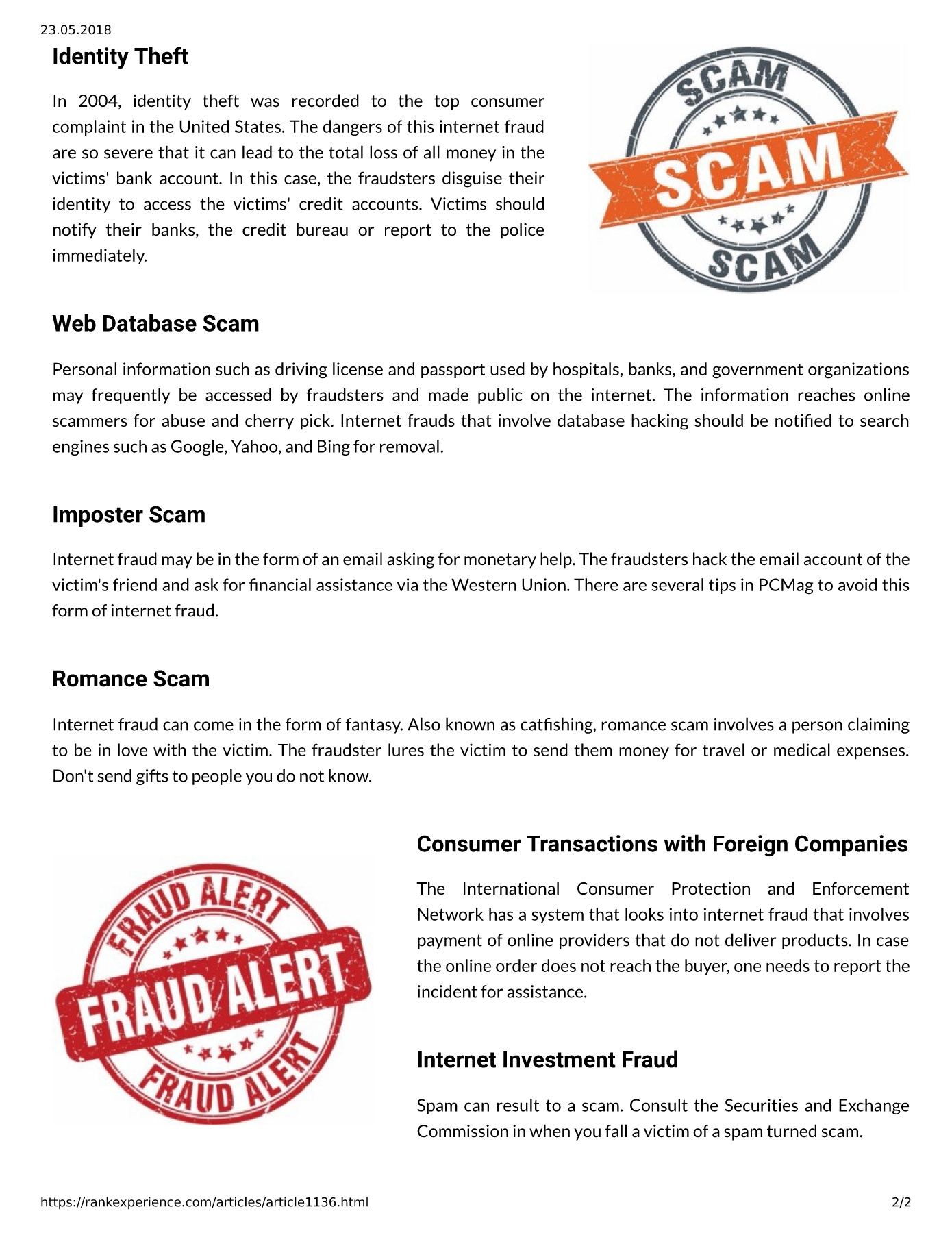 Semalt Online Frauds Explained Pages 1 2 Text Version Anyflip
