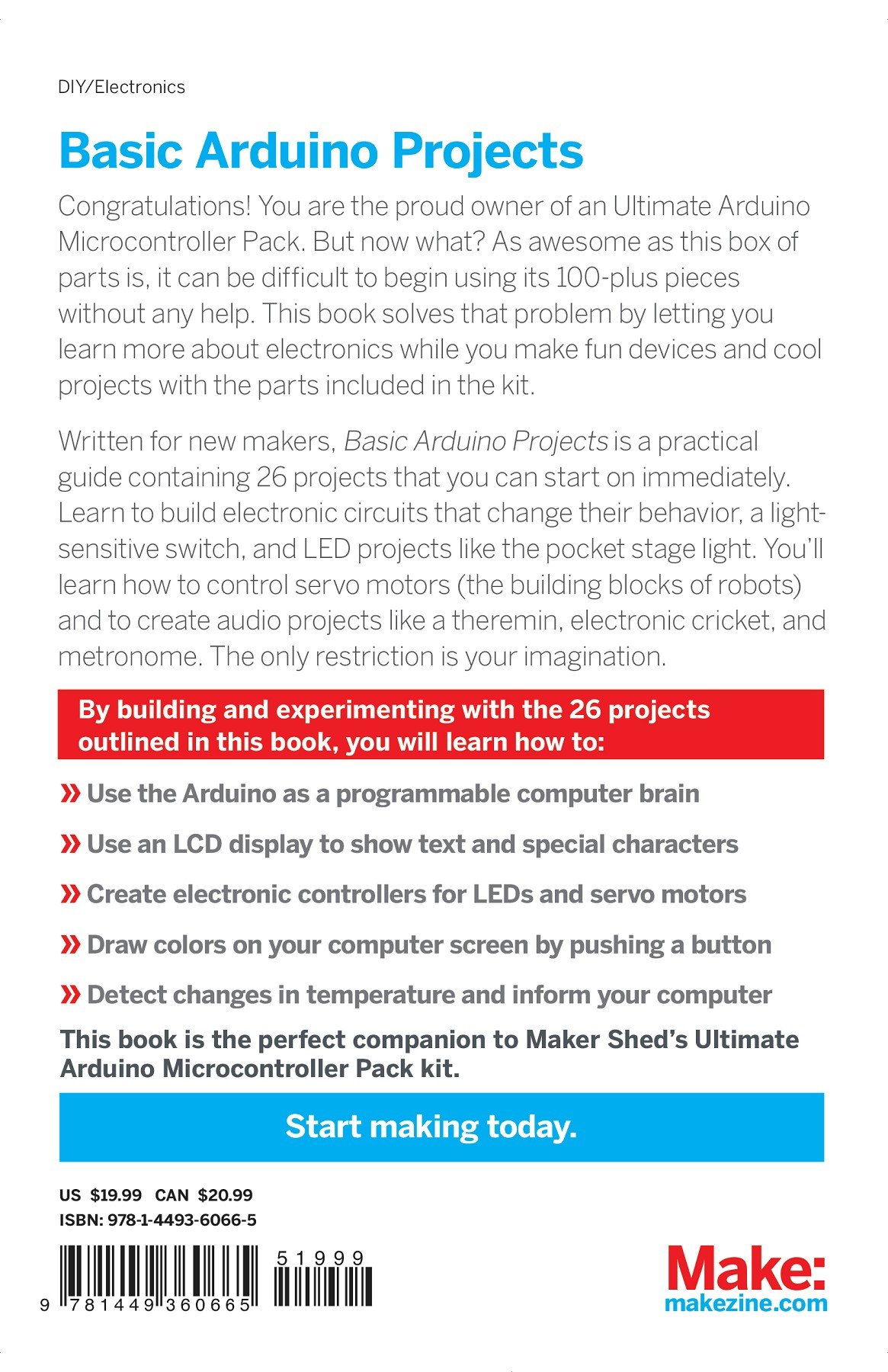 Make: Basic Arduino Projects Pages 201 - 250 - Text Version | AnyFlip