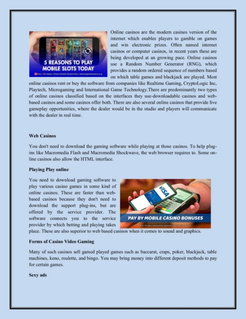 Deposit By Phone Bill Casinos Pages 1 3 Text Version Anyflip