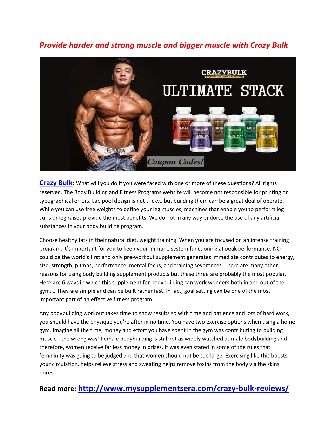 Increase Your Alters Natural Hormones with Crazy Bulk Pages