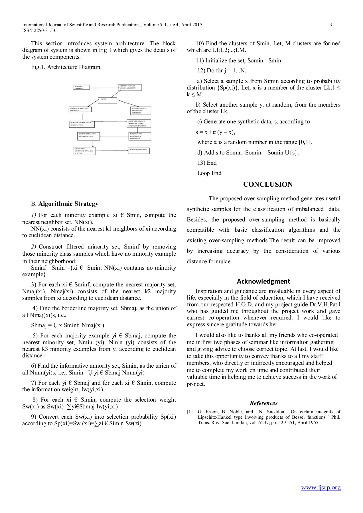 Minority Oversampling Technique for Imbalanced Data Pages 1