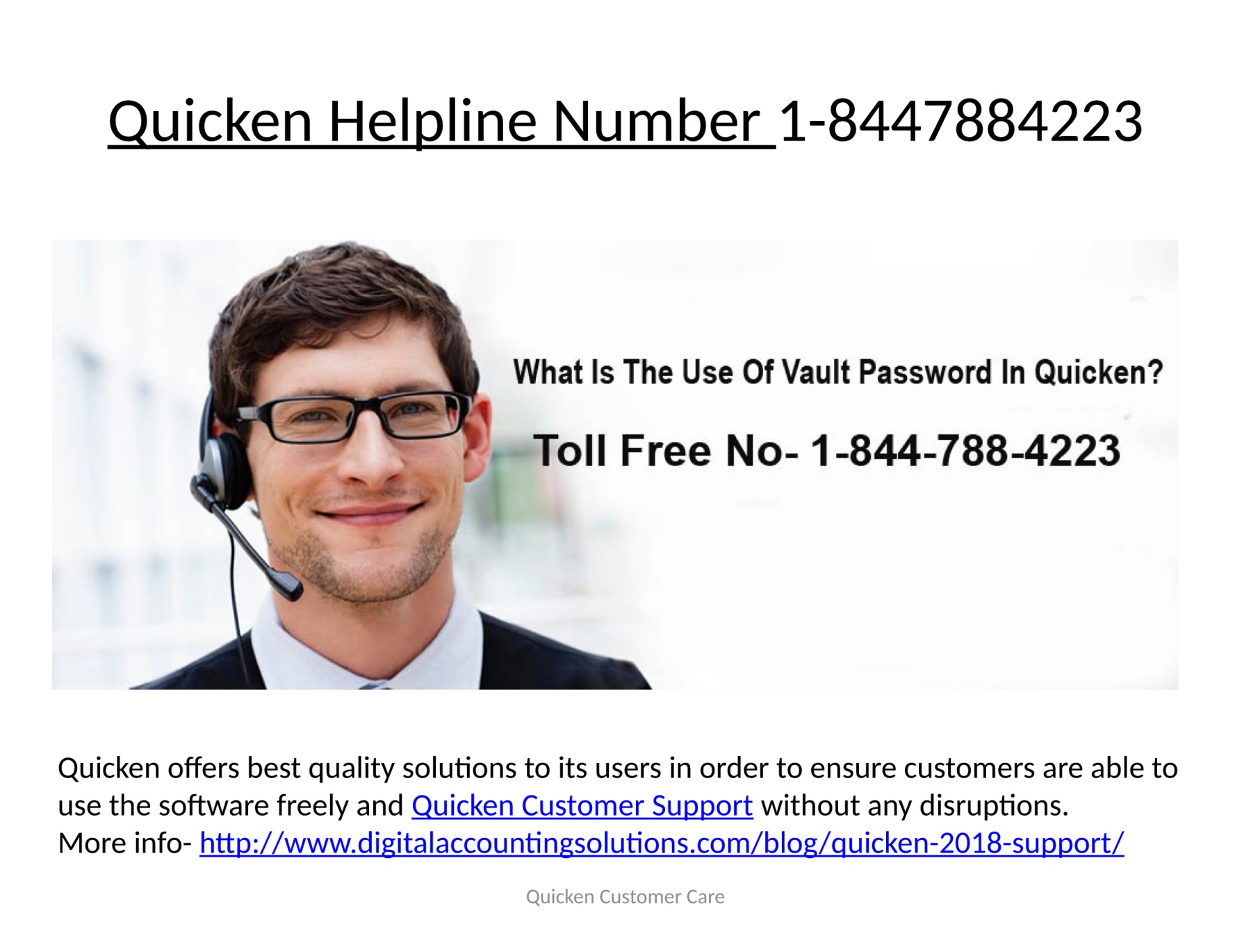 Quicken Technical Support Number 1-8447884223 Pages 1 - 5