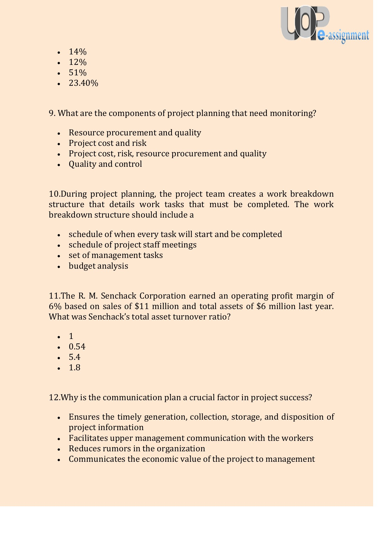FIN 575 Final Exam @ Answers Through UOP E Assignments Pages 1 - 9