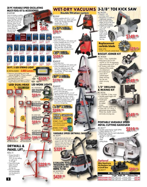 King Canada Woodworking Flyer Spring 2019 Pages 1 - 16