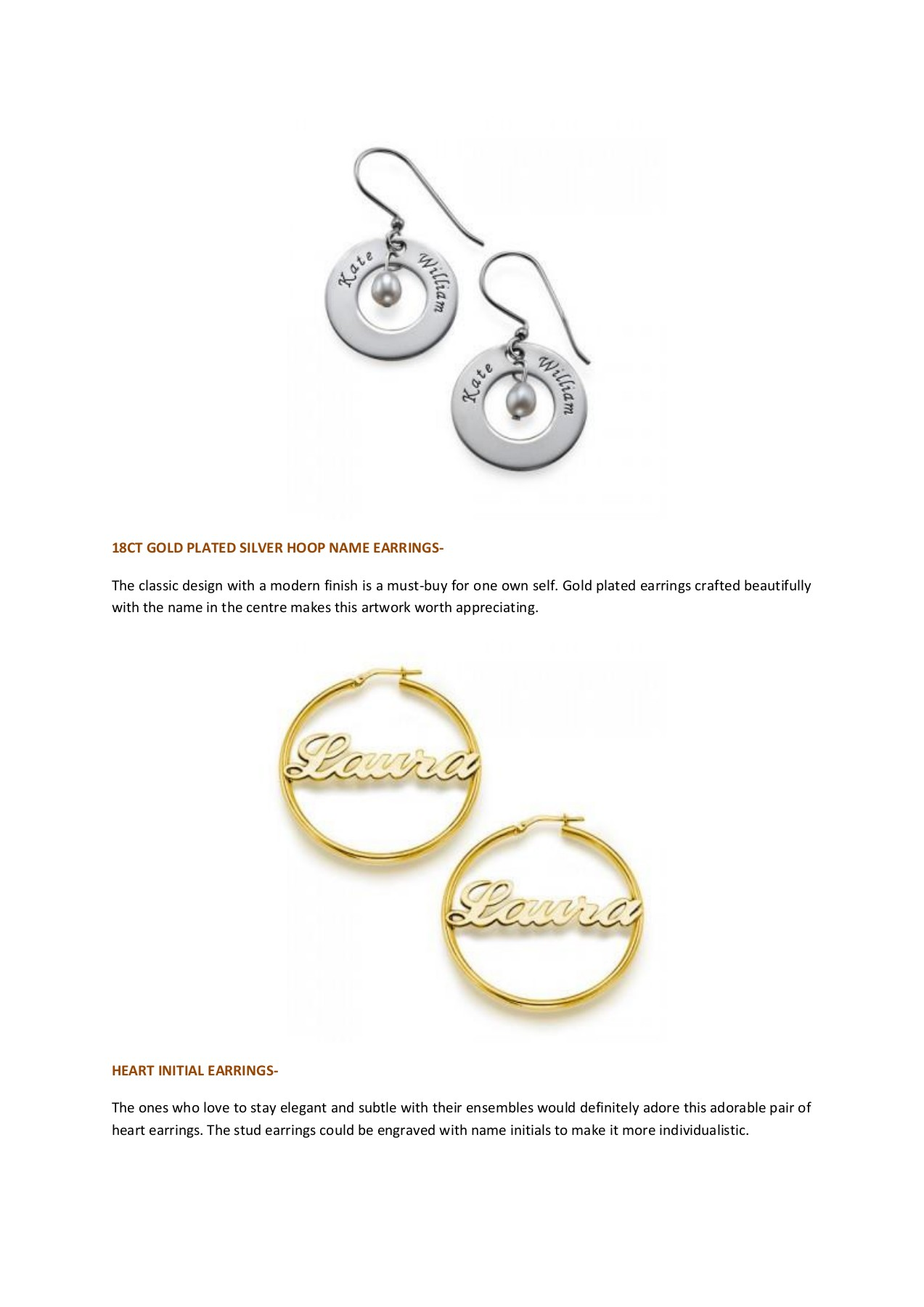 For Personalised Earrings Online At Low Prices In Uk