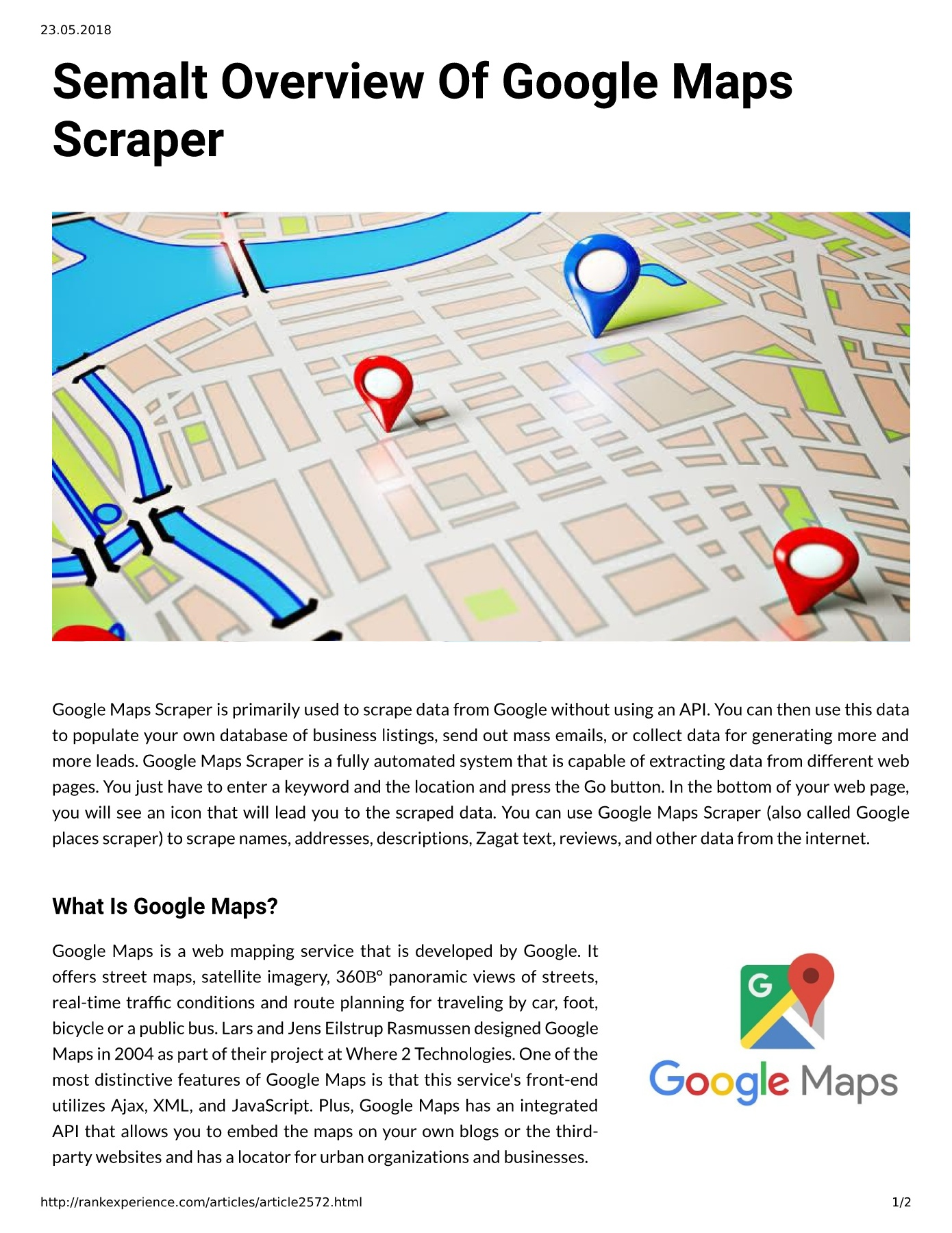 Semalt Overview Of Google Maps Scraper