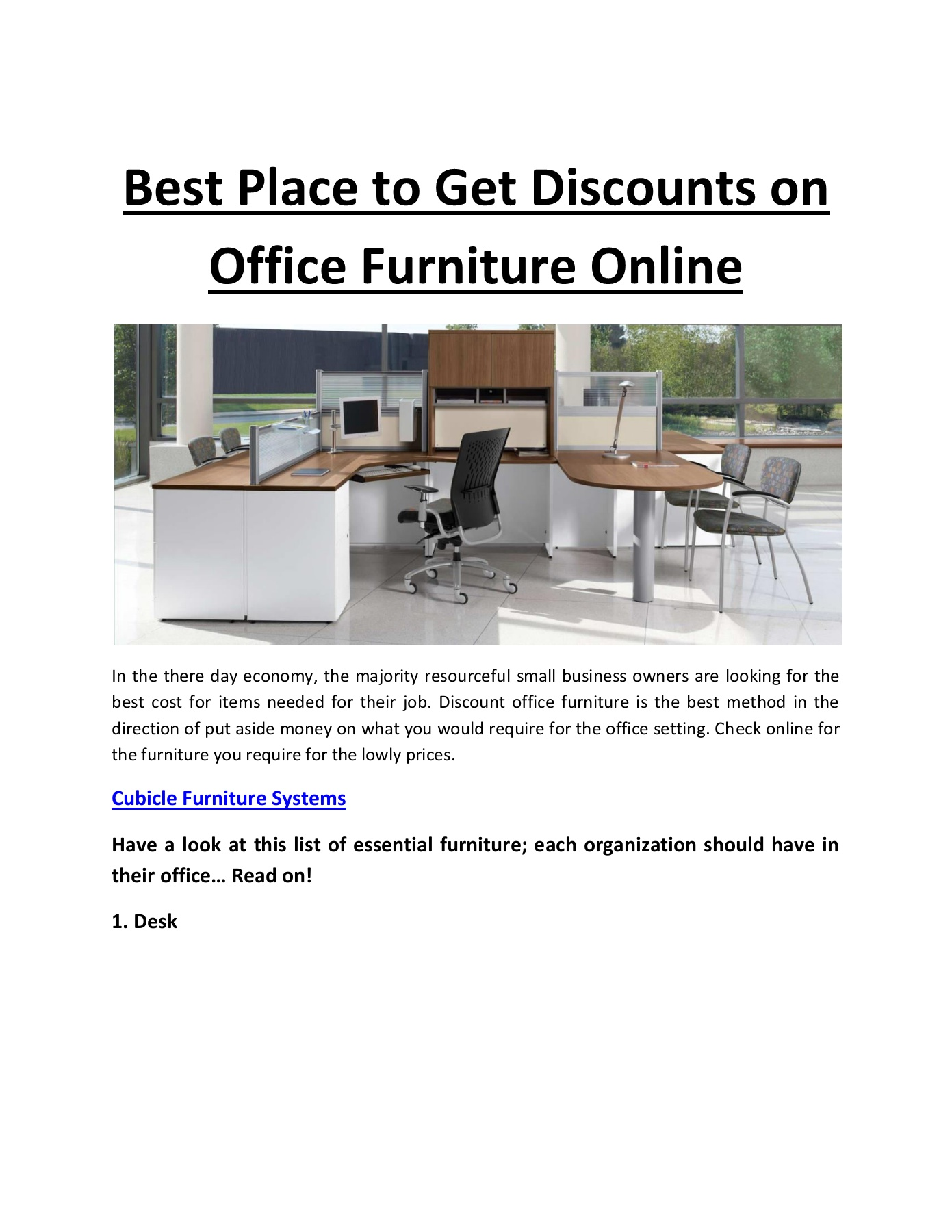 Best Place to Get Discounts on Office Furniture Online