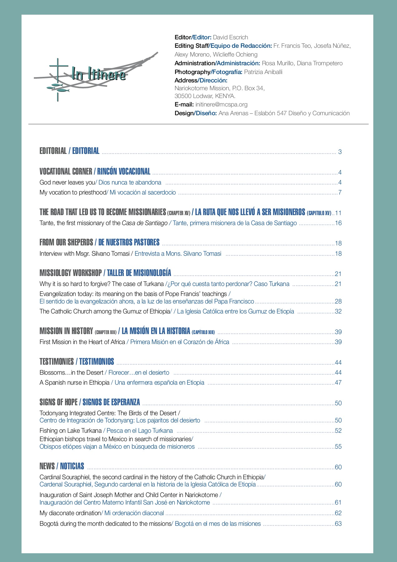 IN ITINERE numero 15 Pages 1 - 50 - Text Version | AnyFlip