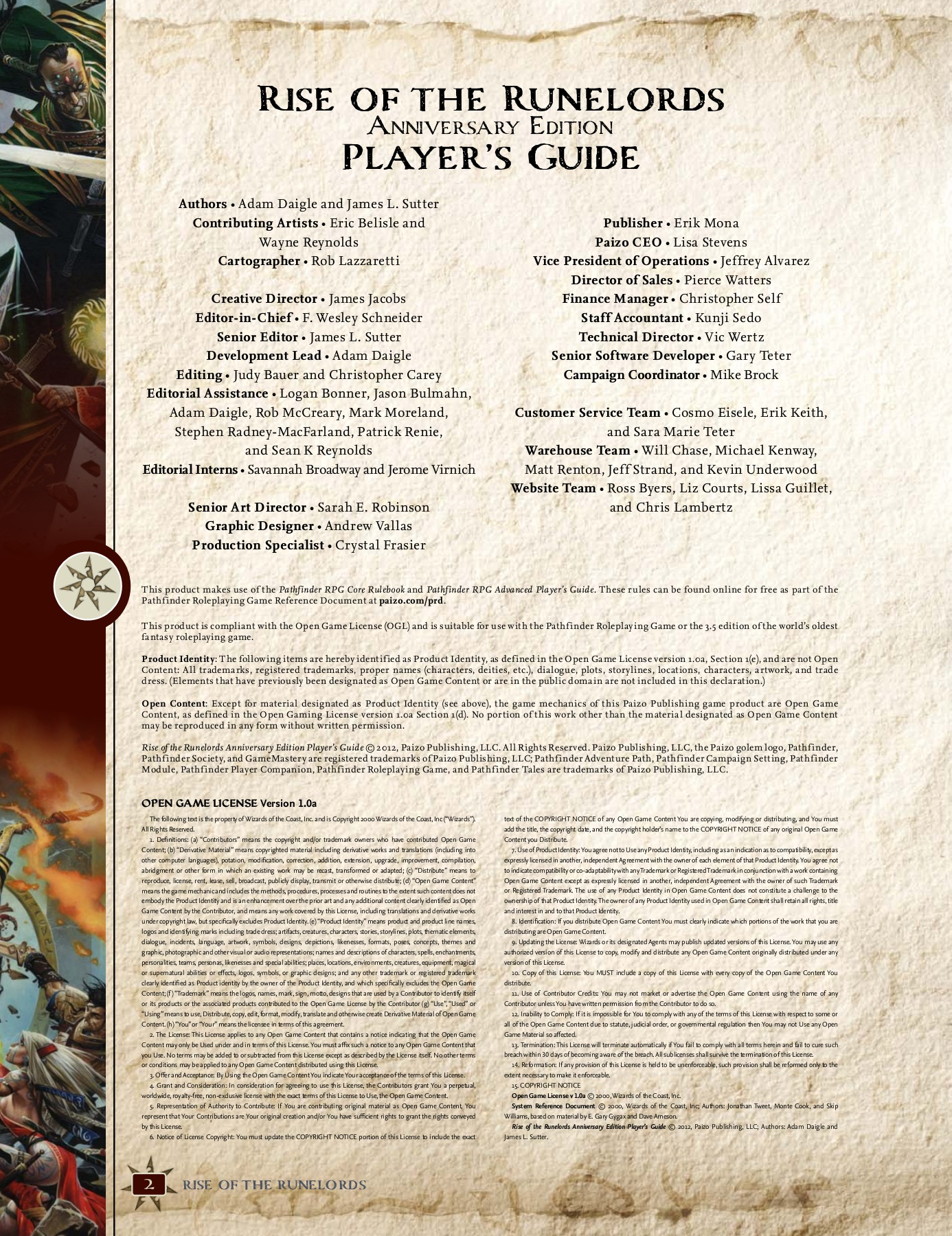 Rise Of The Runelords Anniversary Edition Pdf