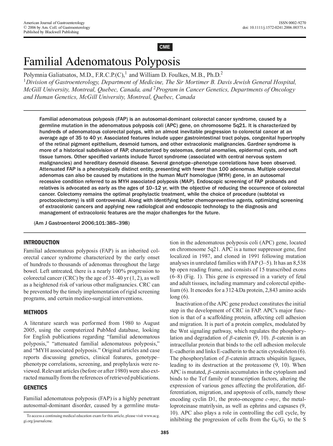 CME Familial Adenomatous Polyposis - fapinfo com Pages 1 - 14 - Text