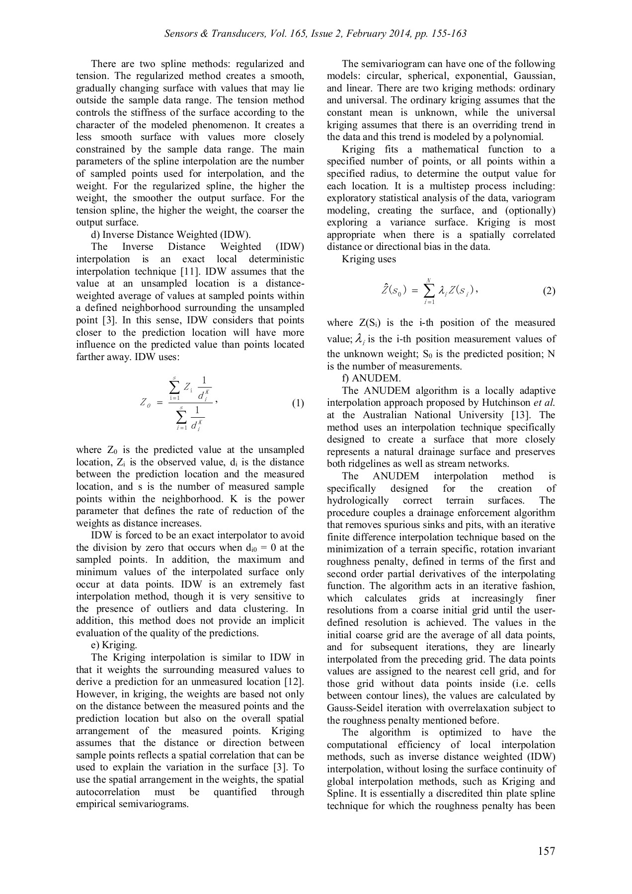 Comparative Analysis of Spatial Interpolation Methods: an     Pages