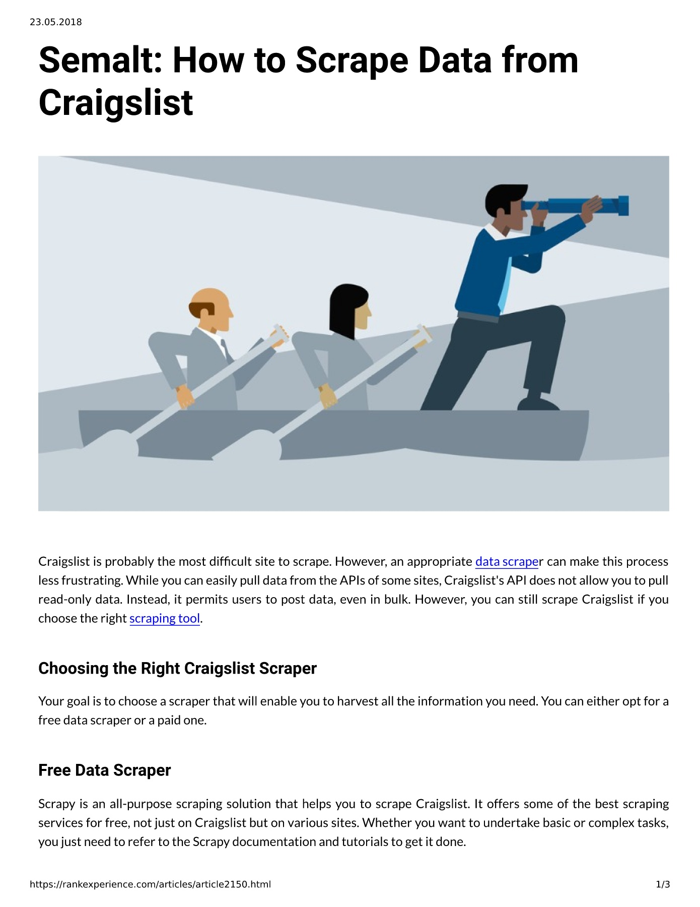 Semalt: How to Scrape Data from Craigslist Pages 1 - 3 - Text