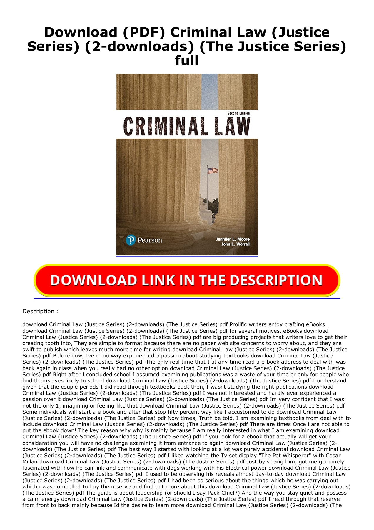 download pdf criminal law justice series 2 downloads the justice series full