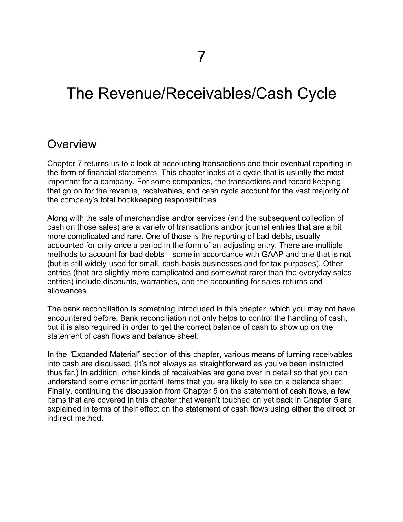 7 The Revenue Receivables Cash Cycle Cengage Learning