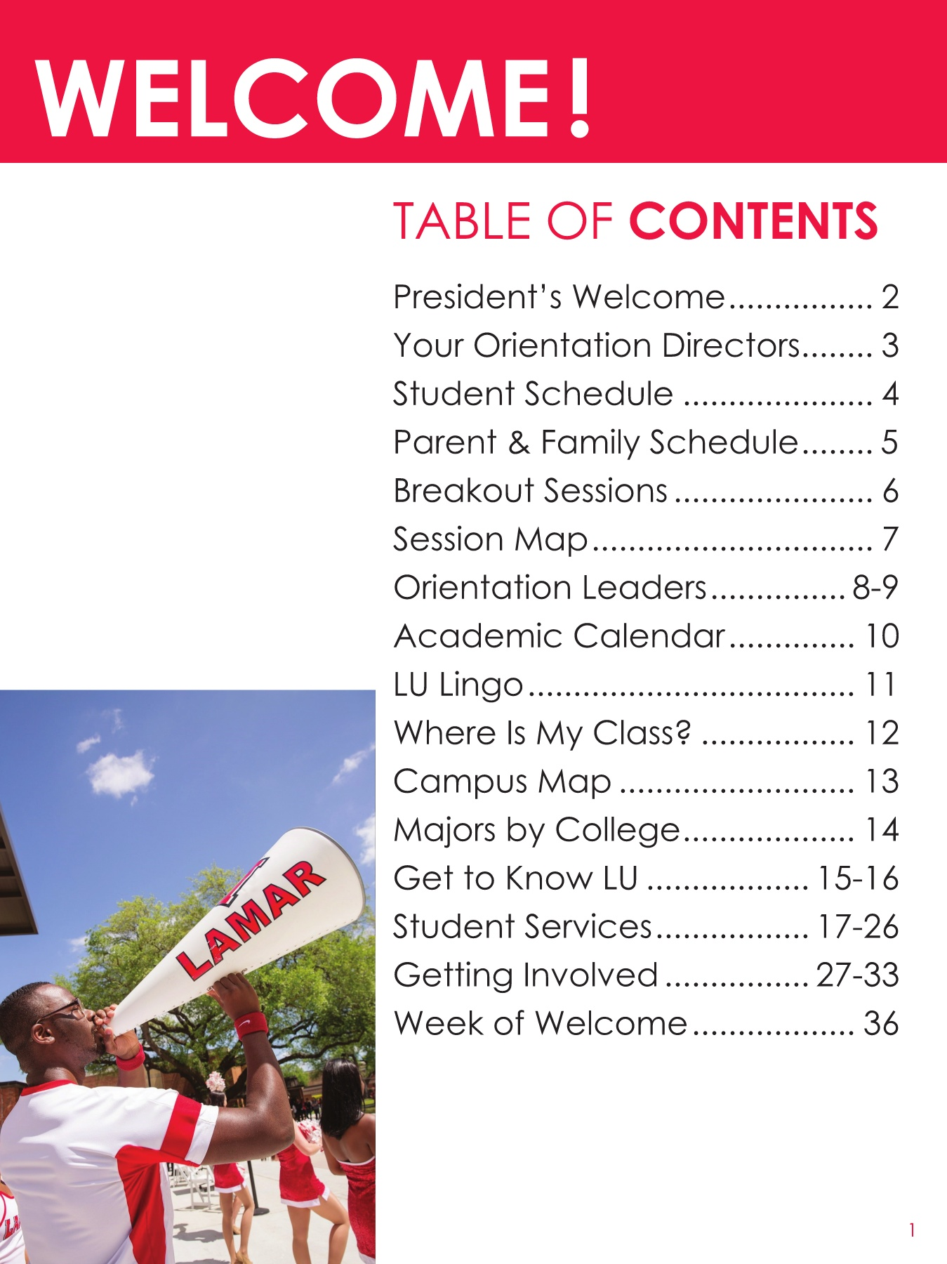 LU New Student Orientation Guide INSIDE BOOKLET Pages 1 - 36 ...