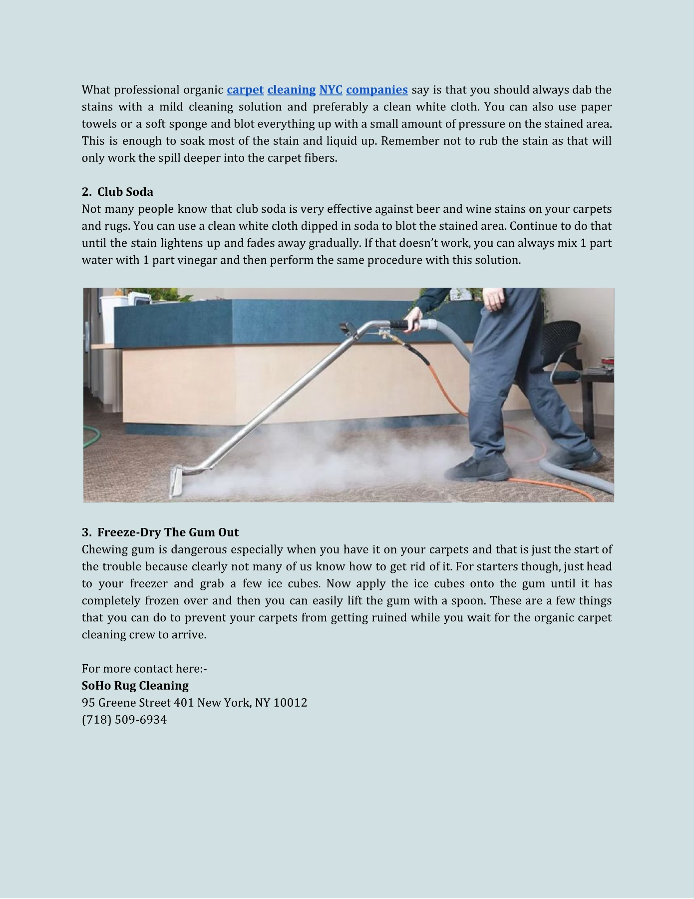 Benefits of Organic Carpet Cleaning NYC