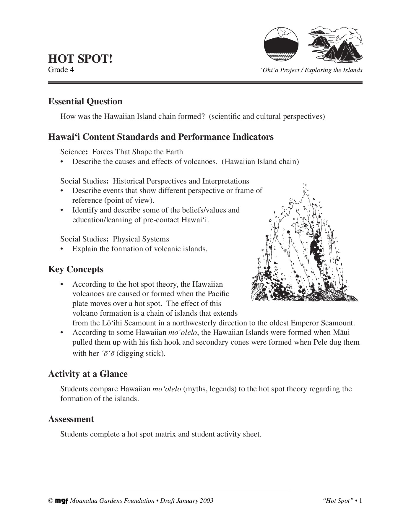 HOT SPOT! - Moanalua Gardens Foundations Pages 1 - 11 - Text