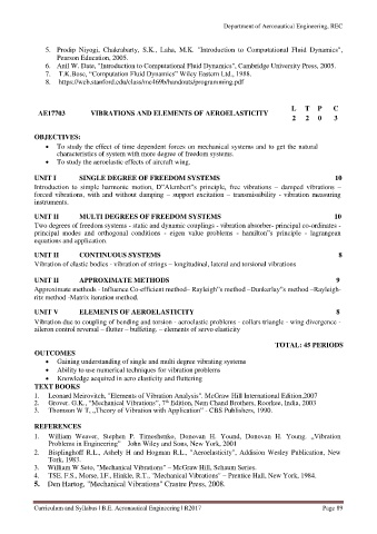 Page 89 - B E Aero Curriculum and Syllabus R2017 Updated