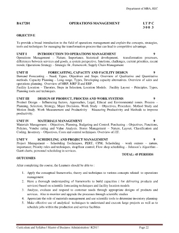 Page 22 - MBA curriculum and syllabus R2017 - REC