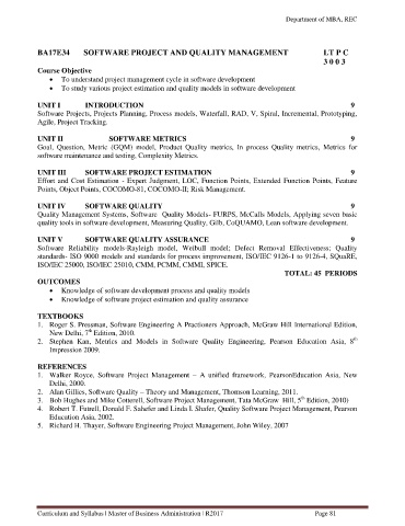 Page 81 - MBA curriculum and syllabus R2017 - REC