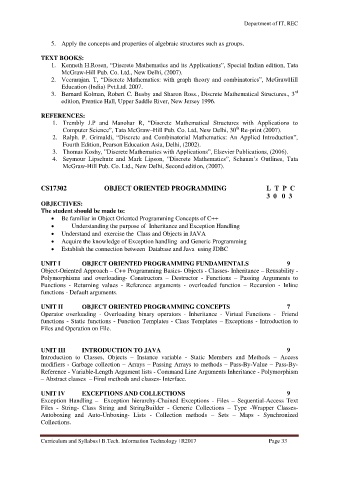 Page 33 B Tech It Curriculum And Syllabus R2017 Rec