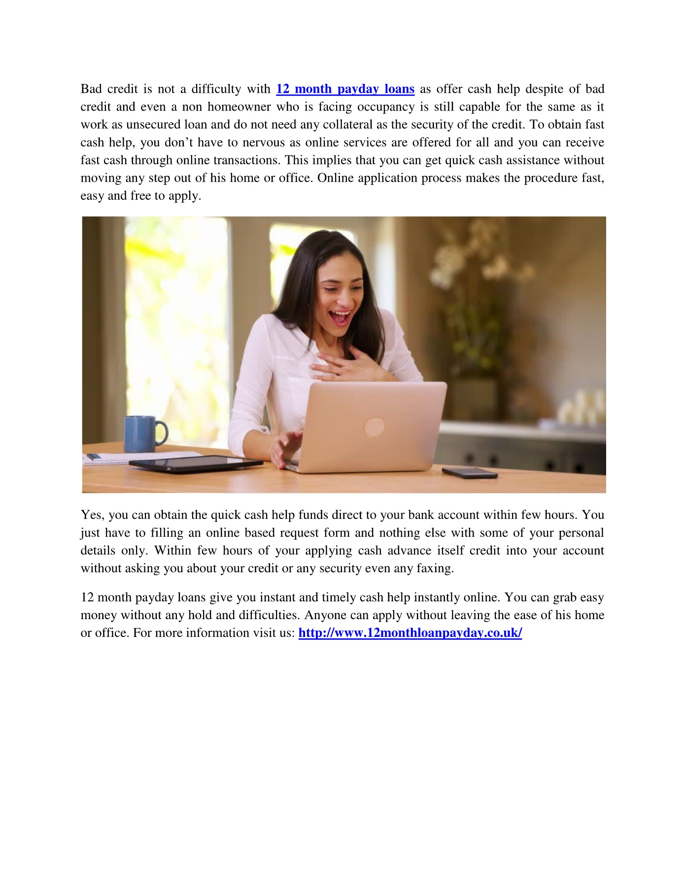 12 Month Payday Loans pdf