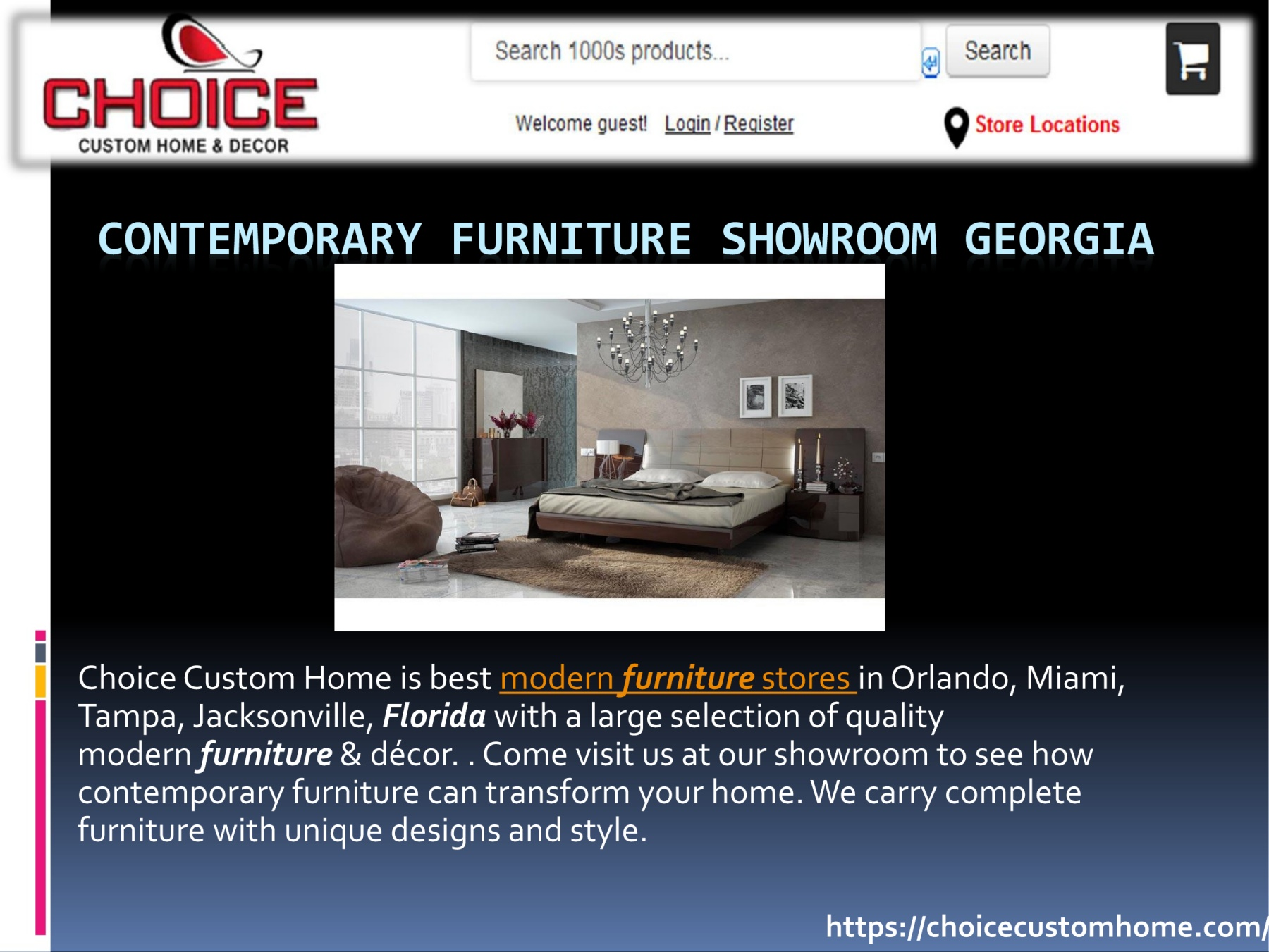 Choice Custom Home Is Best Modern Furniture Stores In Orlando, Miami,  Tampa, Jacksonville, Florida With A Large Selection Of Quality Modern  Furniture ...