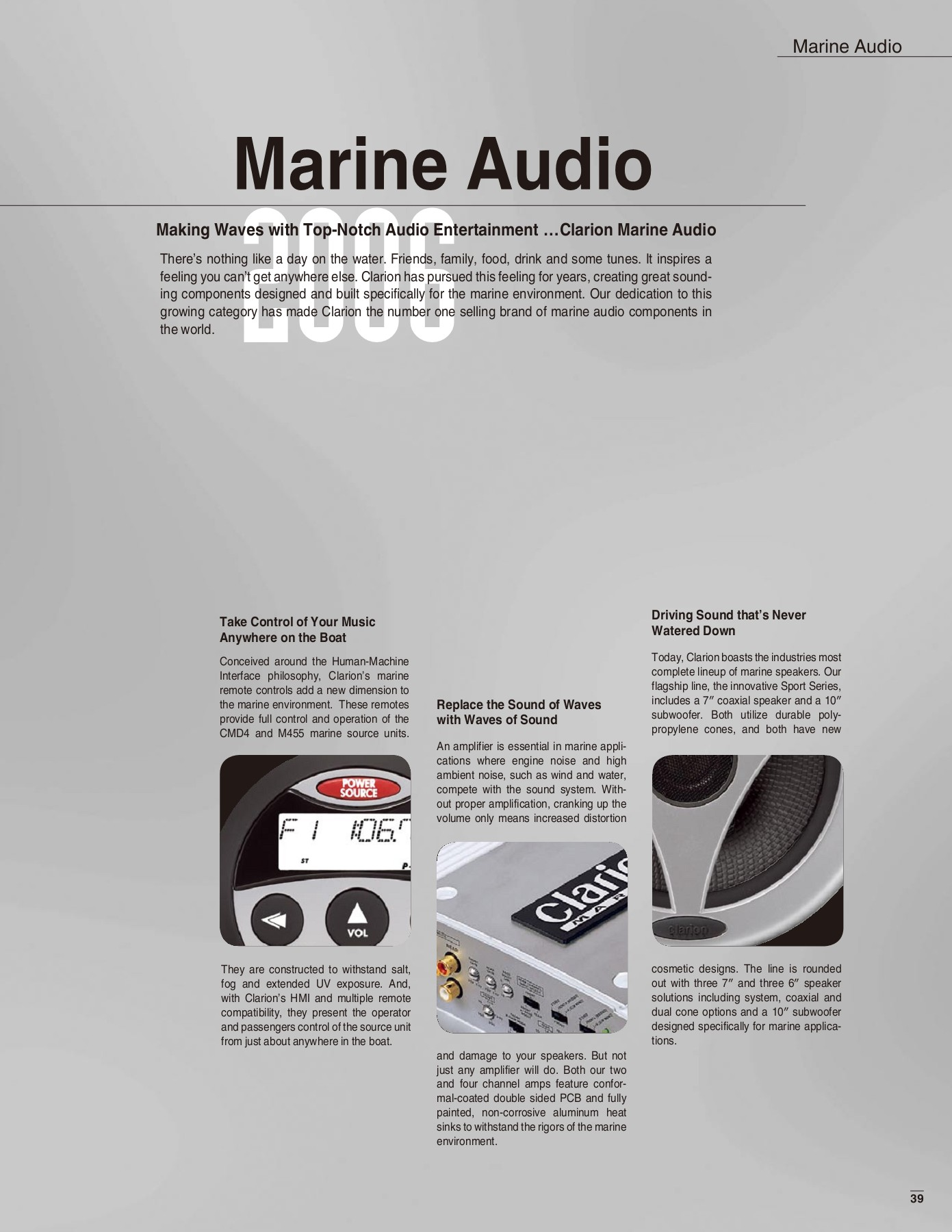 Marine Audio 2006 - Clarion Pages 1 - 6 - Text Version | AnyFlip