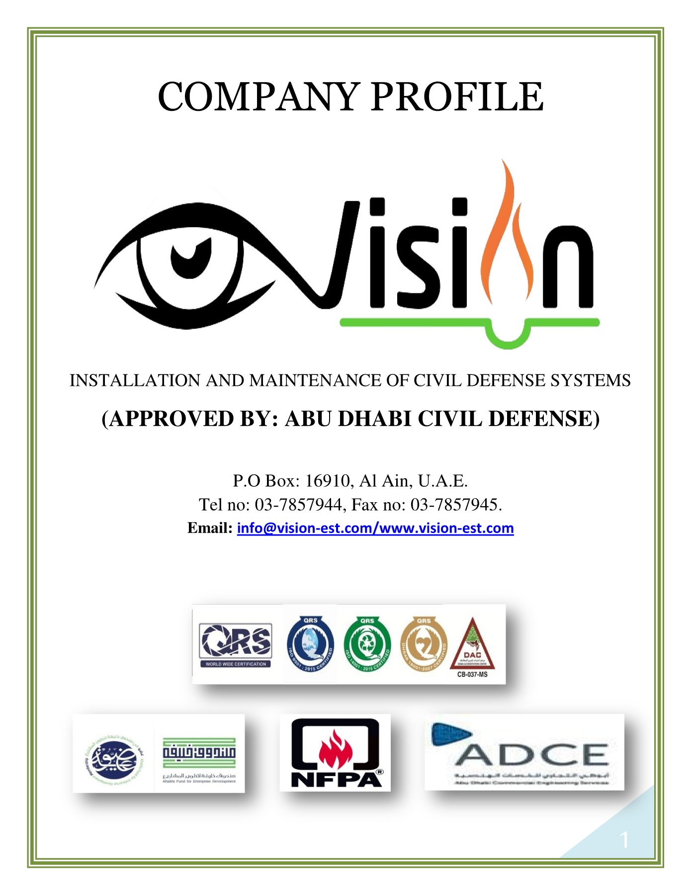Vision Installation and Maintenance of Civil Defense Systems