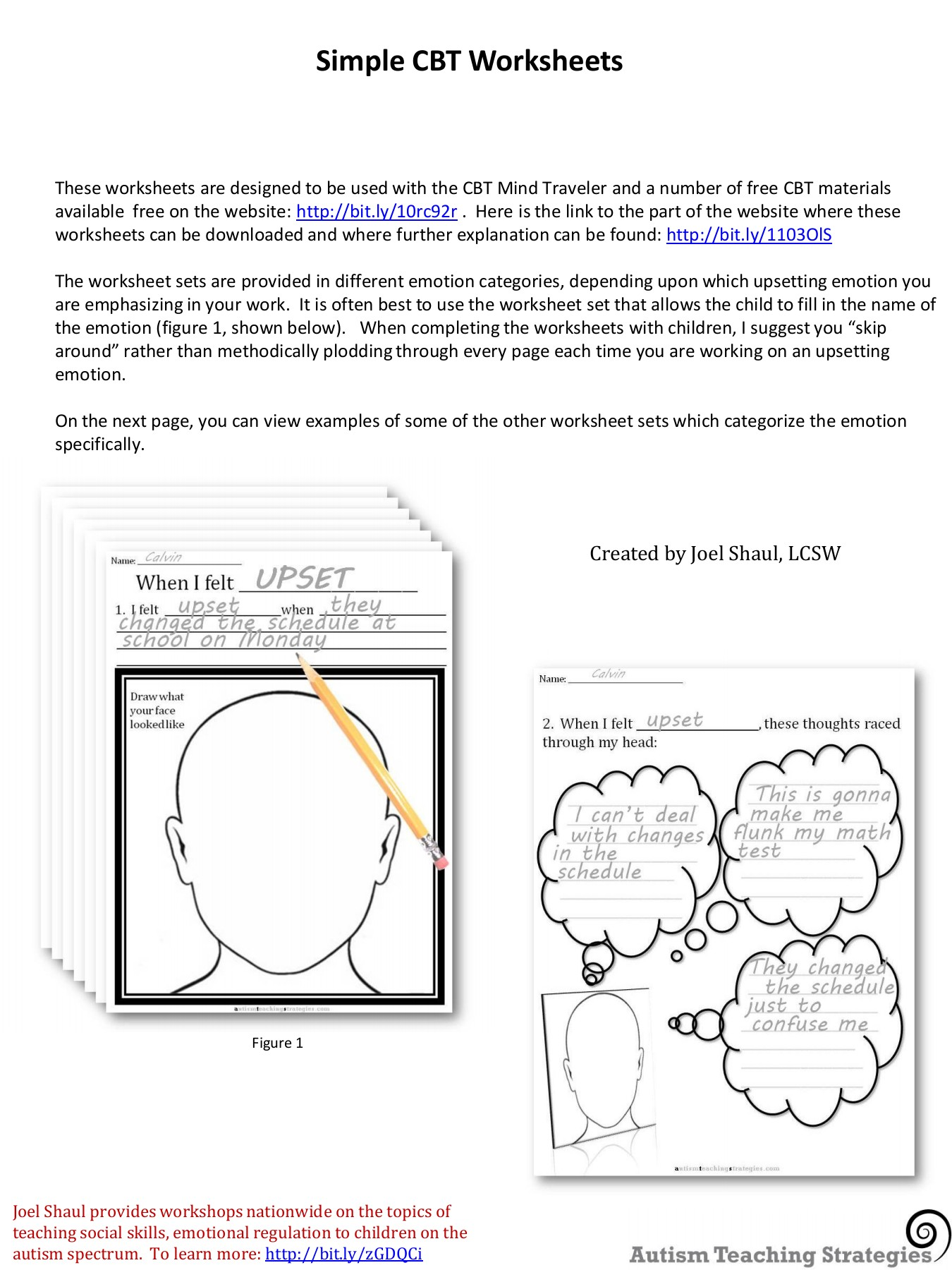 - Simple CBT Worksheets - Autism Teaching Strategies Pages 1 - 42