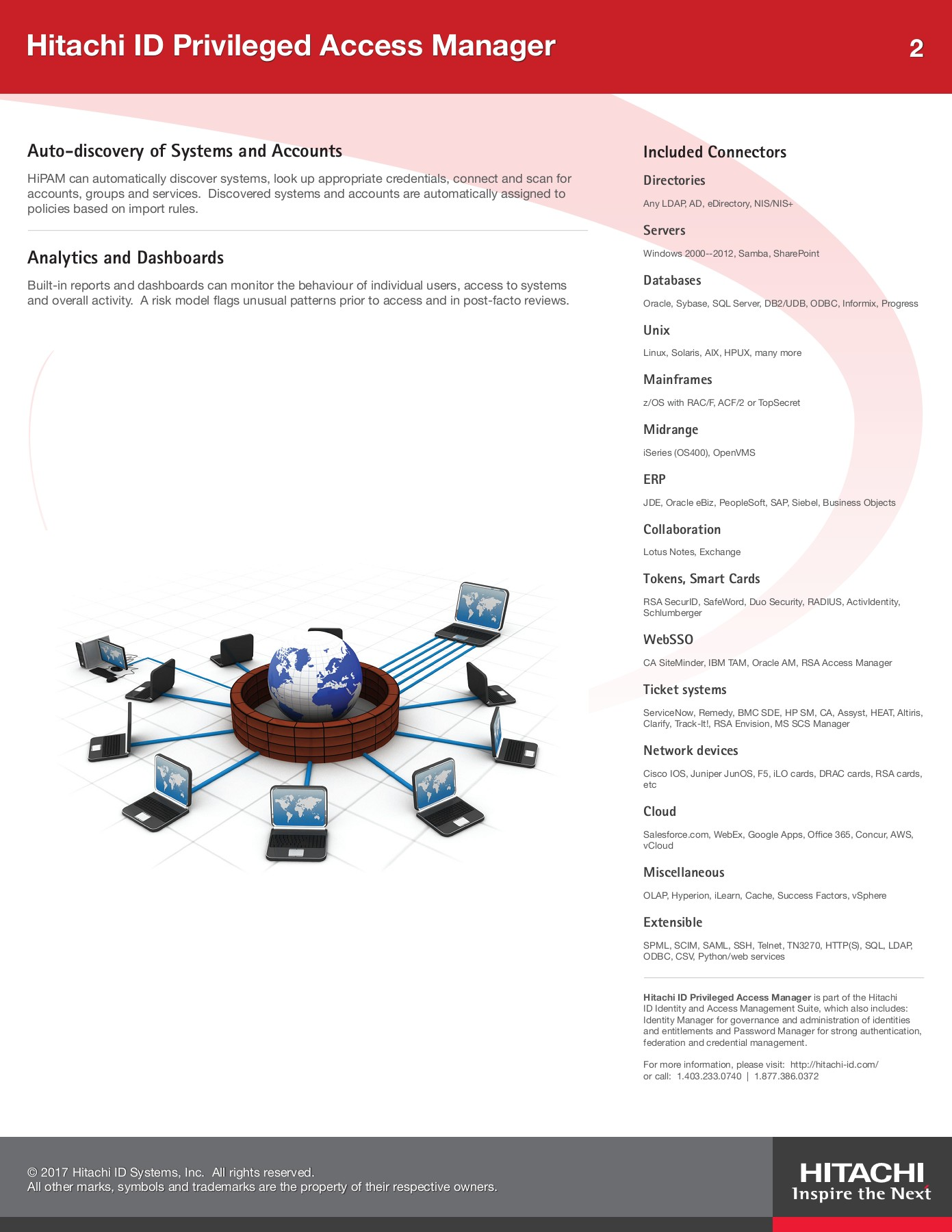 Hitachi ID Privileged Access Manager Brochure Pages 1 - 2