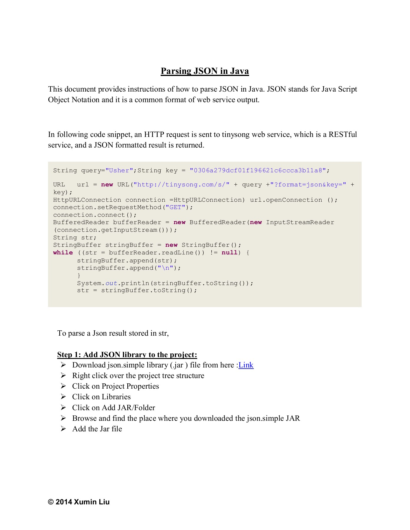 Parsing JSON and XML in Java - Rochester Institute of