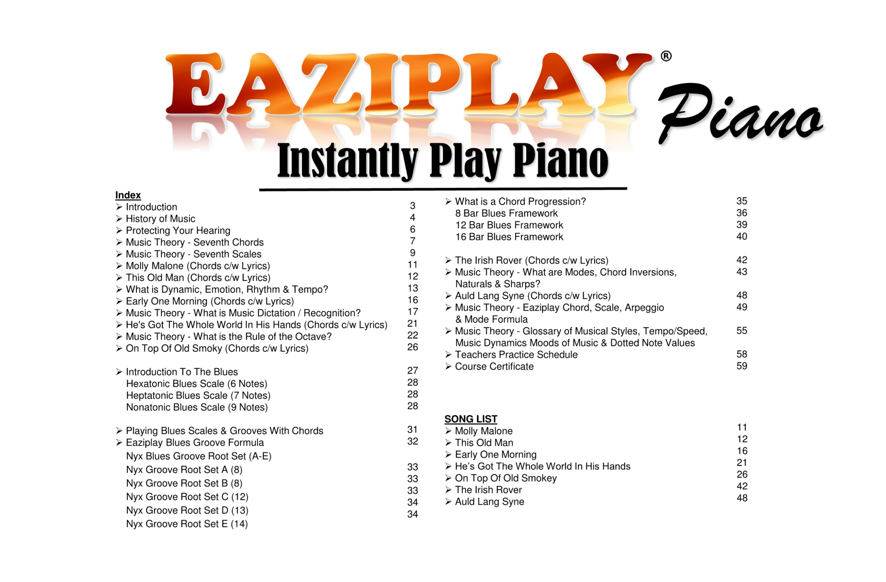 EAZIPLAY PIANO PART 4 - 2019 Pages 1 - 50 - Text Version