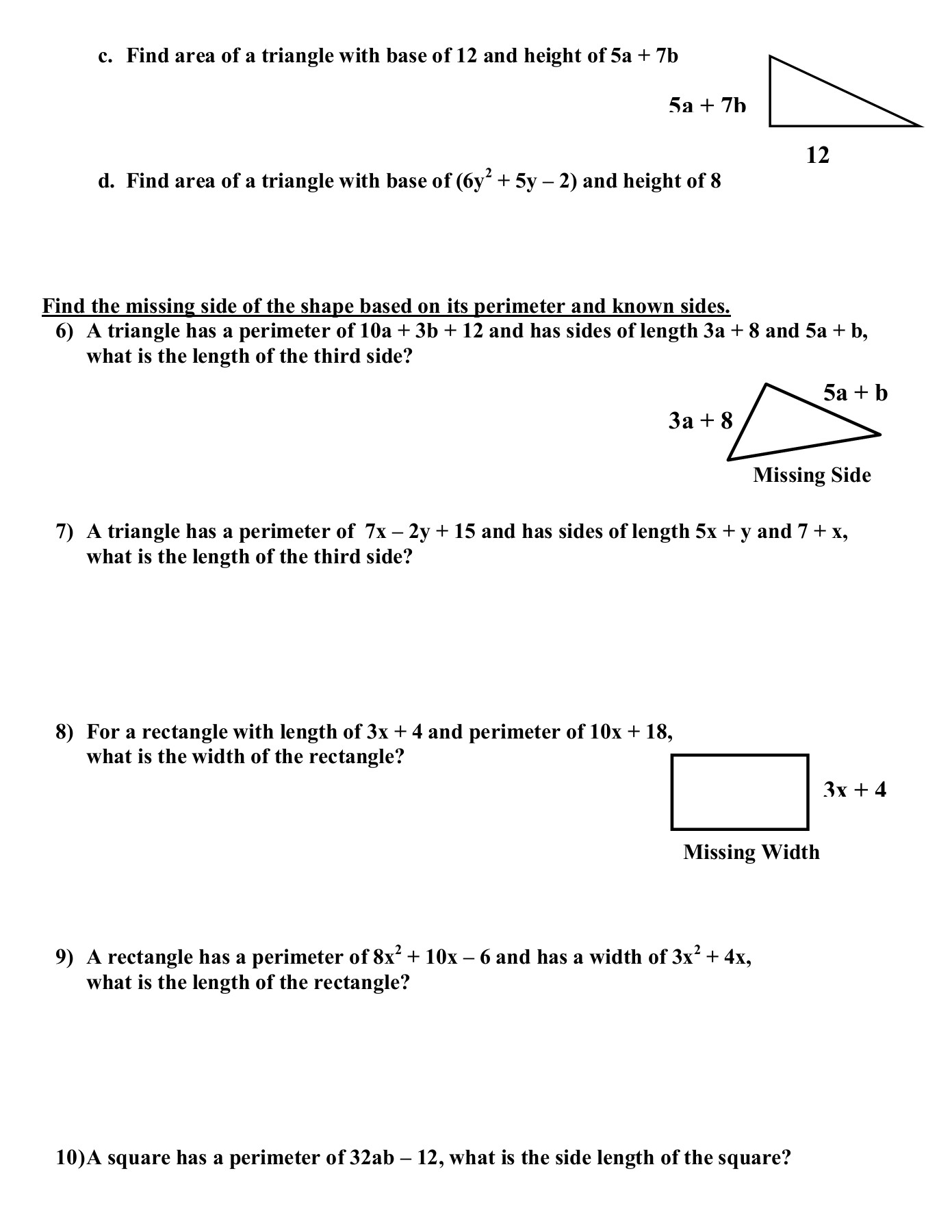 Combining Like Terms Worksheet With Answers Nidecmege