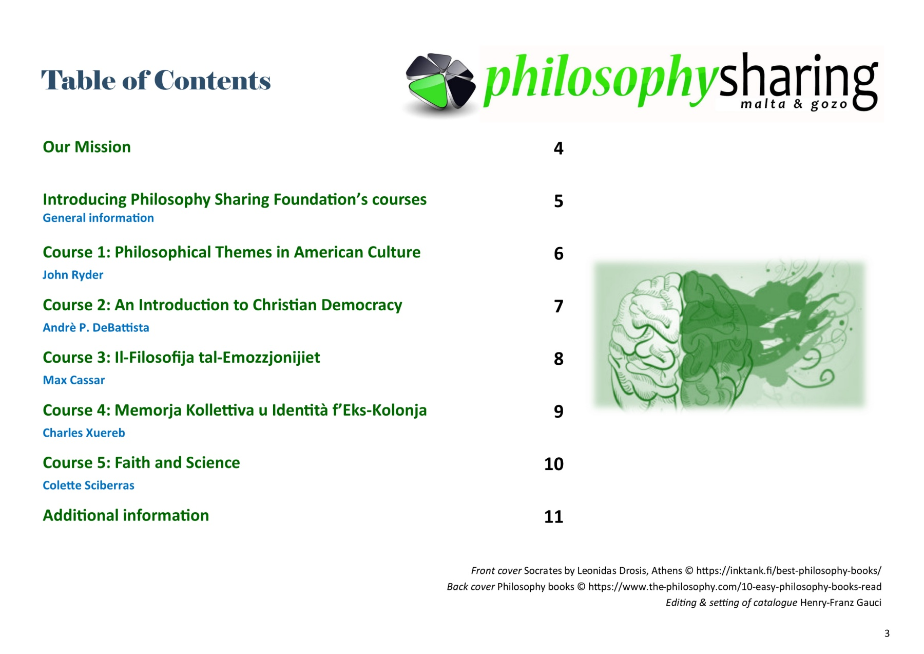 Philosophy Sharing Foundation Course Catalogue 2018-19 Pages 1 - 12