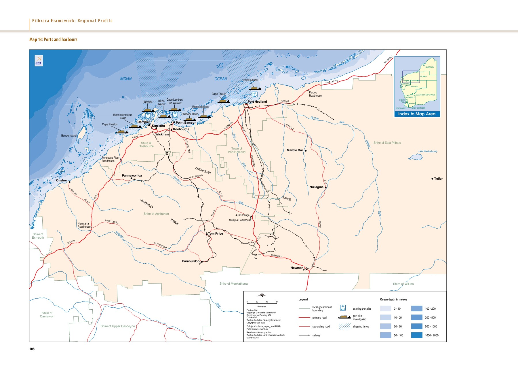 Map 11: Pilbara bioregions Map 12: Road system NK1 N Pages 1 - 5