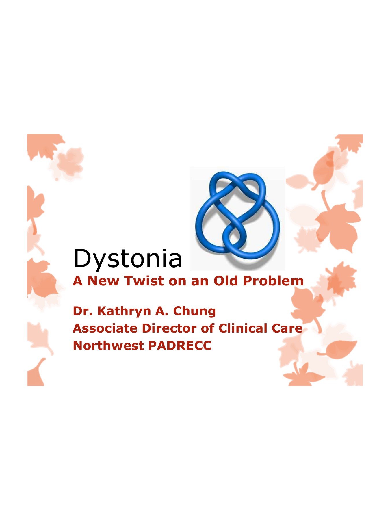 Dystonia - United States Department of Veterans Affairs Pages 1 - 20