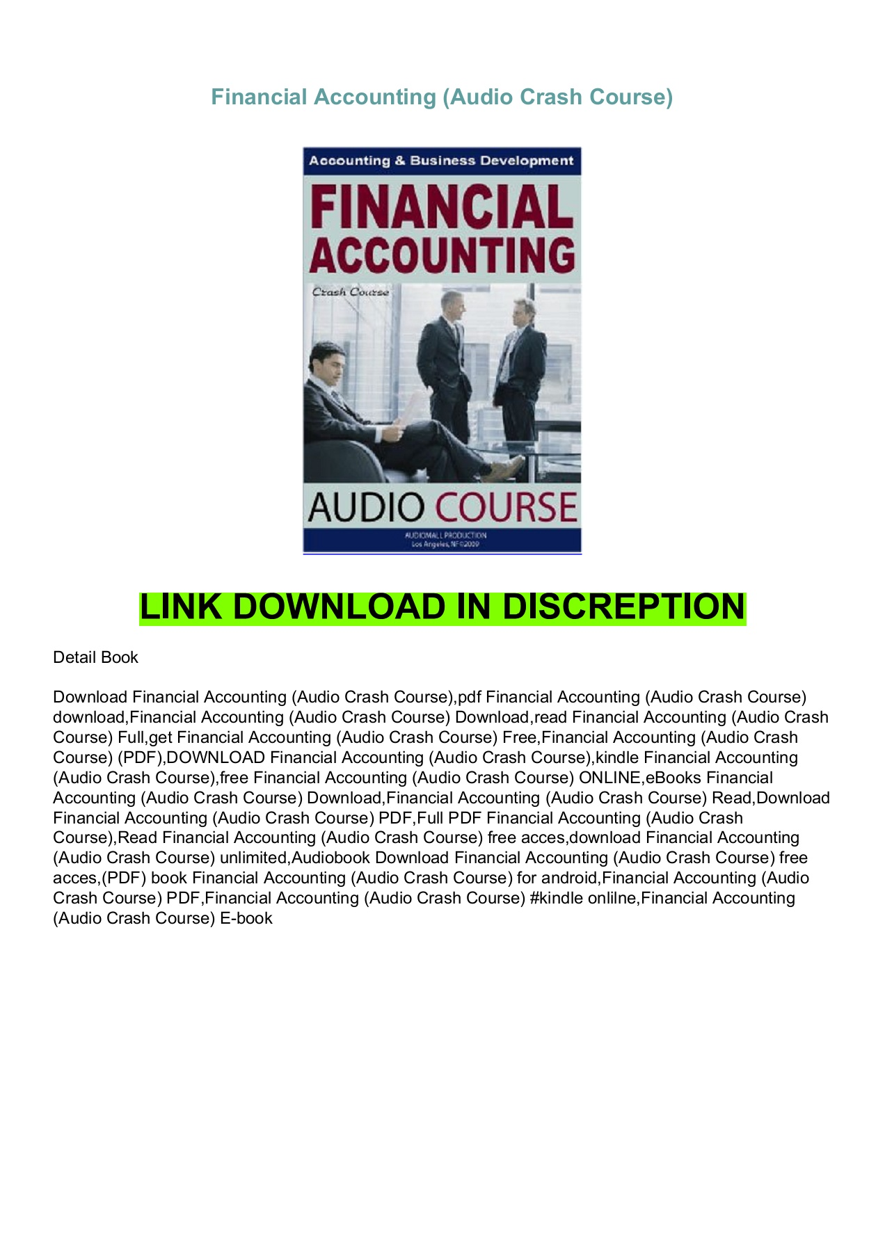 pdf (read online) Financial Accounting (Audio Crash Course) Pages 1 - 1 -  Text Version | AnyFlip