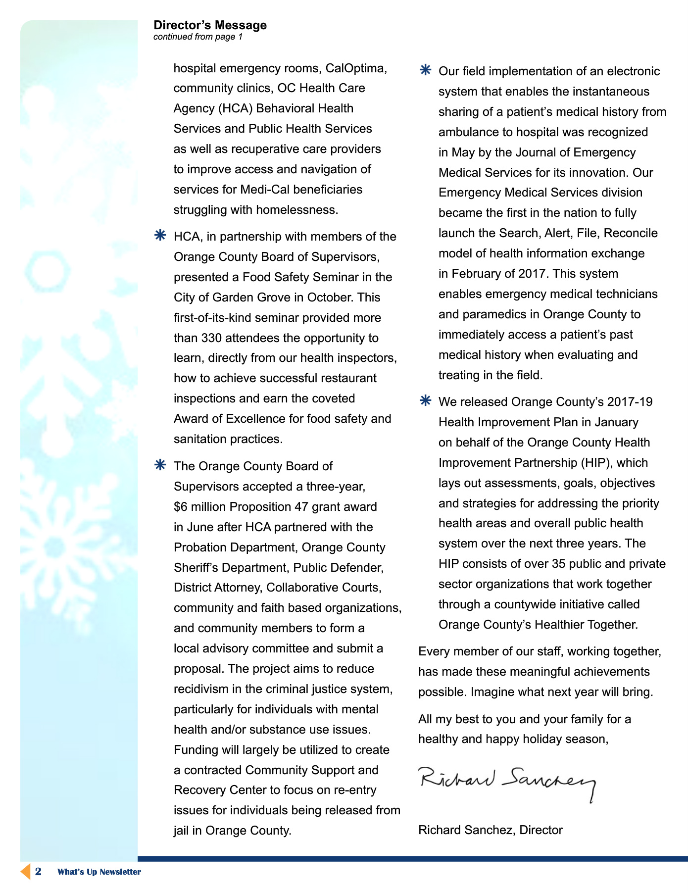 December 2017 Newsletter Pages 1 - 16 - Text Version | AnyFlip
