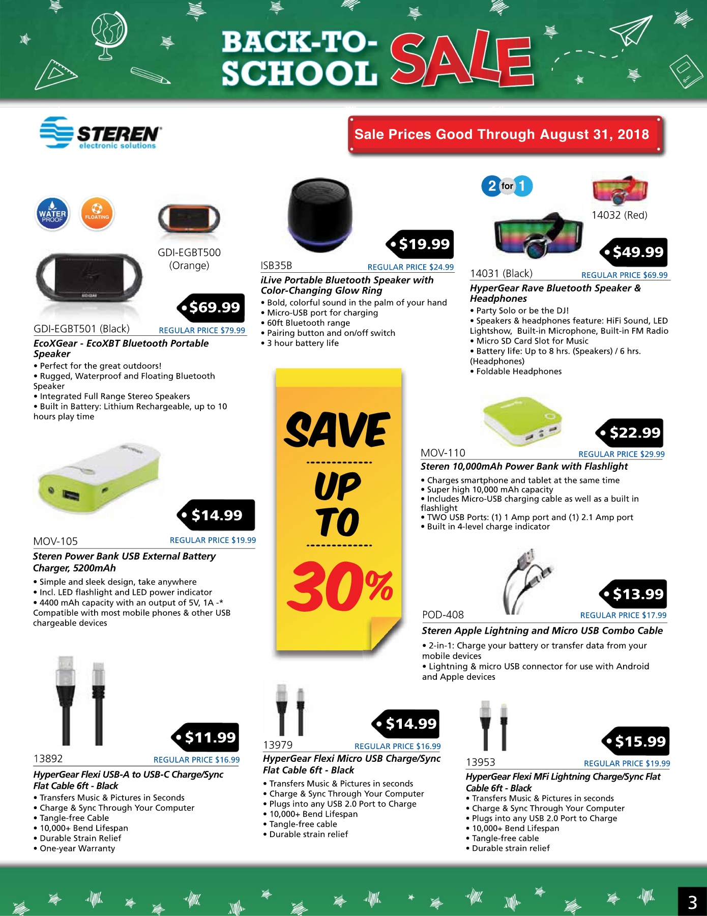 Steren August Flyer 8 LOW RES Pages 1 - 8 - Text Version
