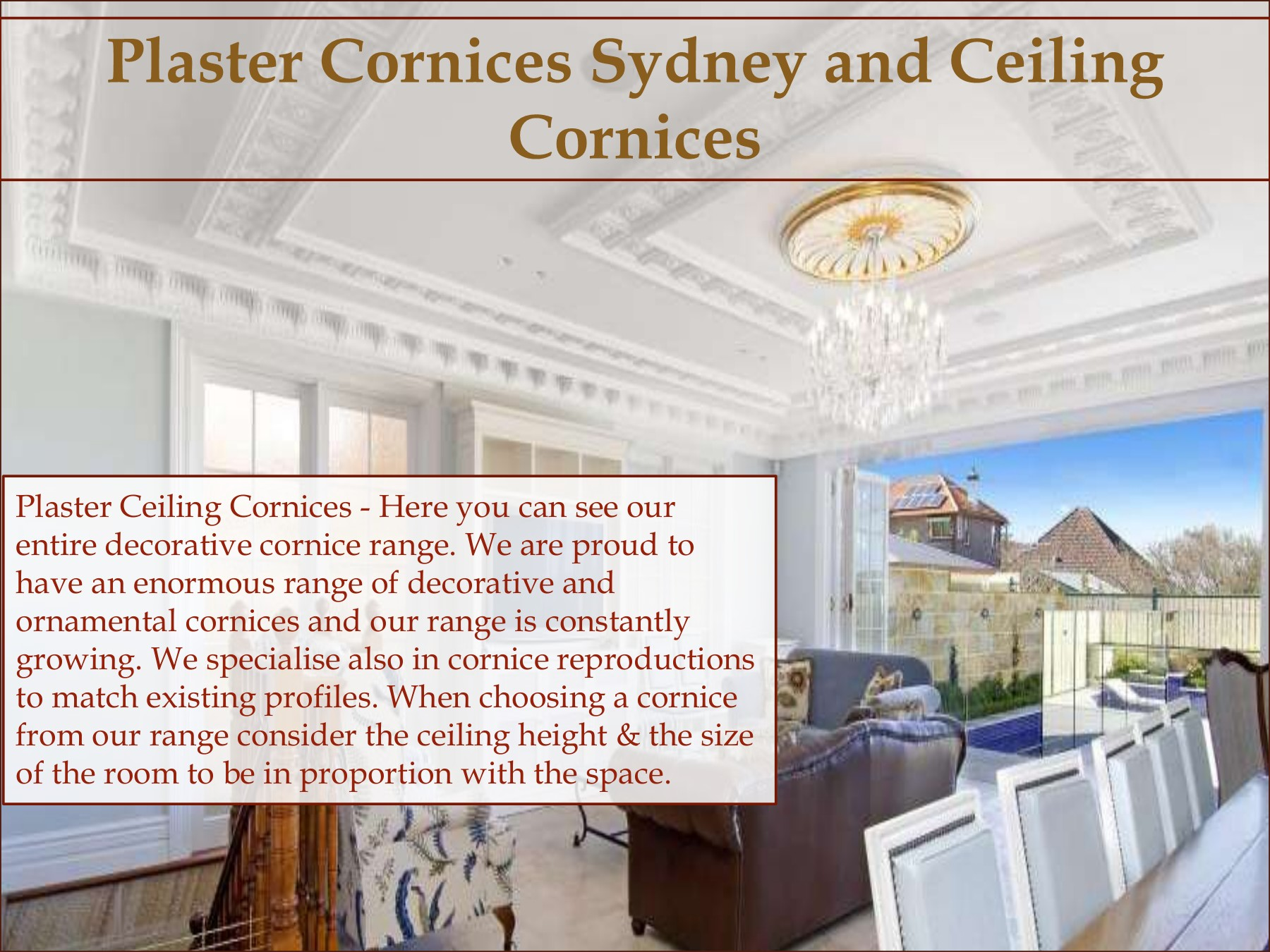 Cornice Profiles Pages 1 - 10 - Text Version | AnyFlip