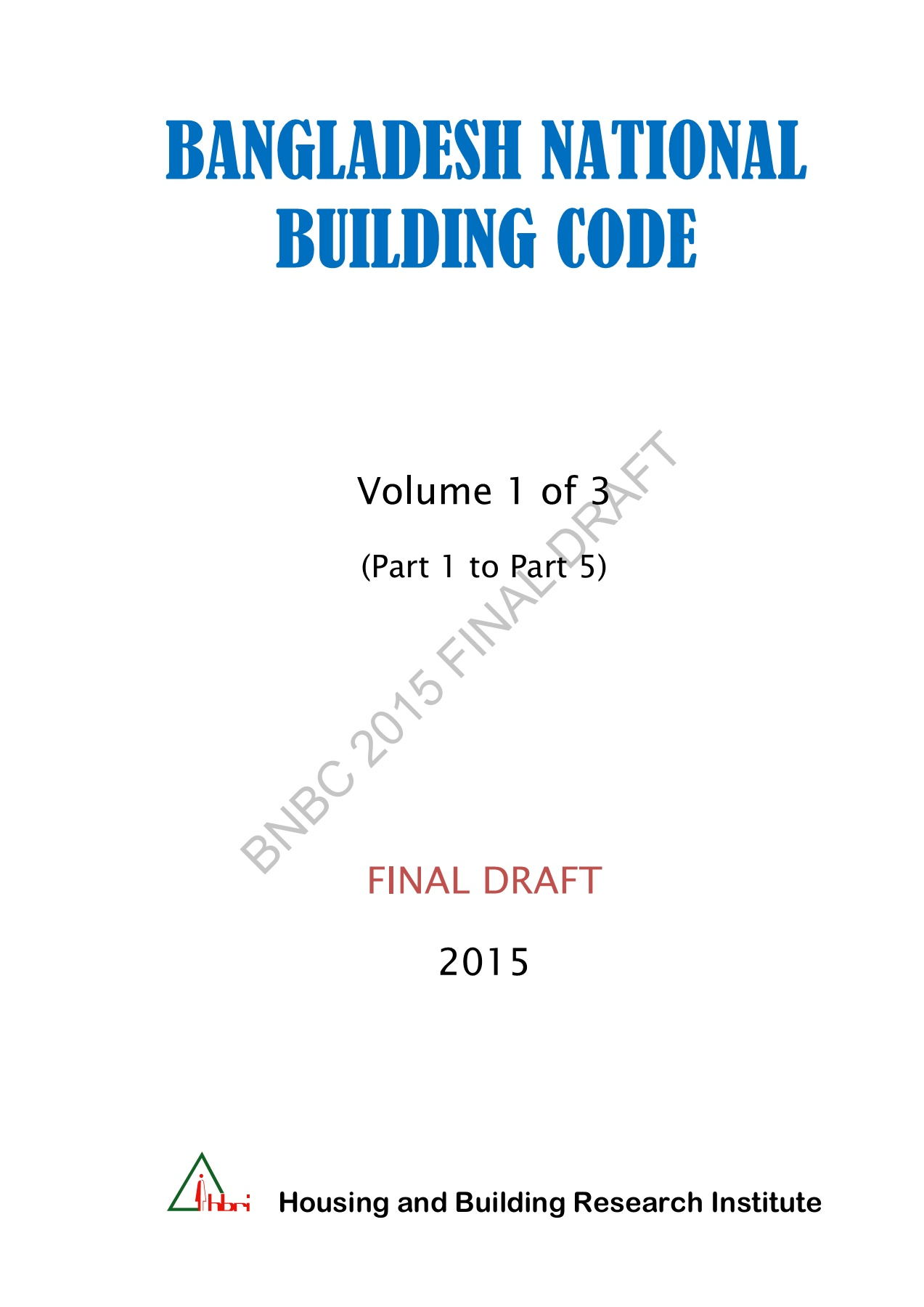 Bangladesh National Building Code-2015 Pages 1 - 50 - Text