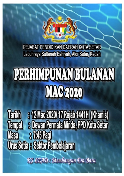 Buku Program Perhimpunan Bulanan Mac 2020 Ppd Ks Pages 1 16 Text Version Anyflip