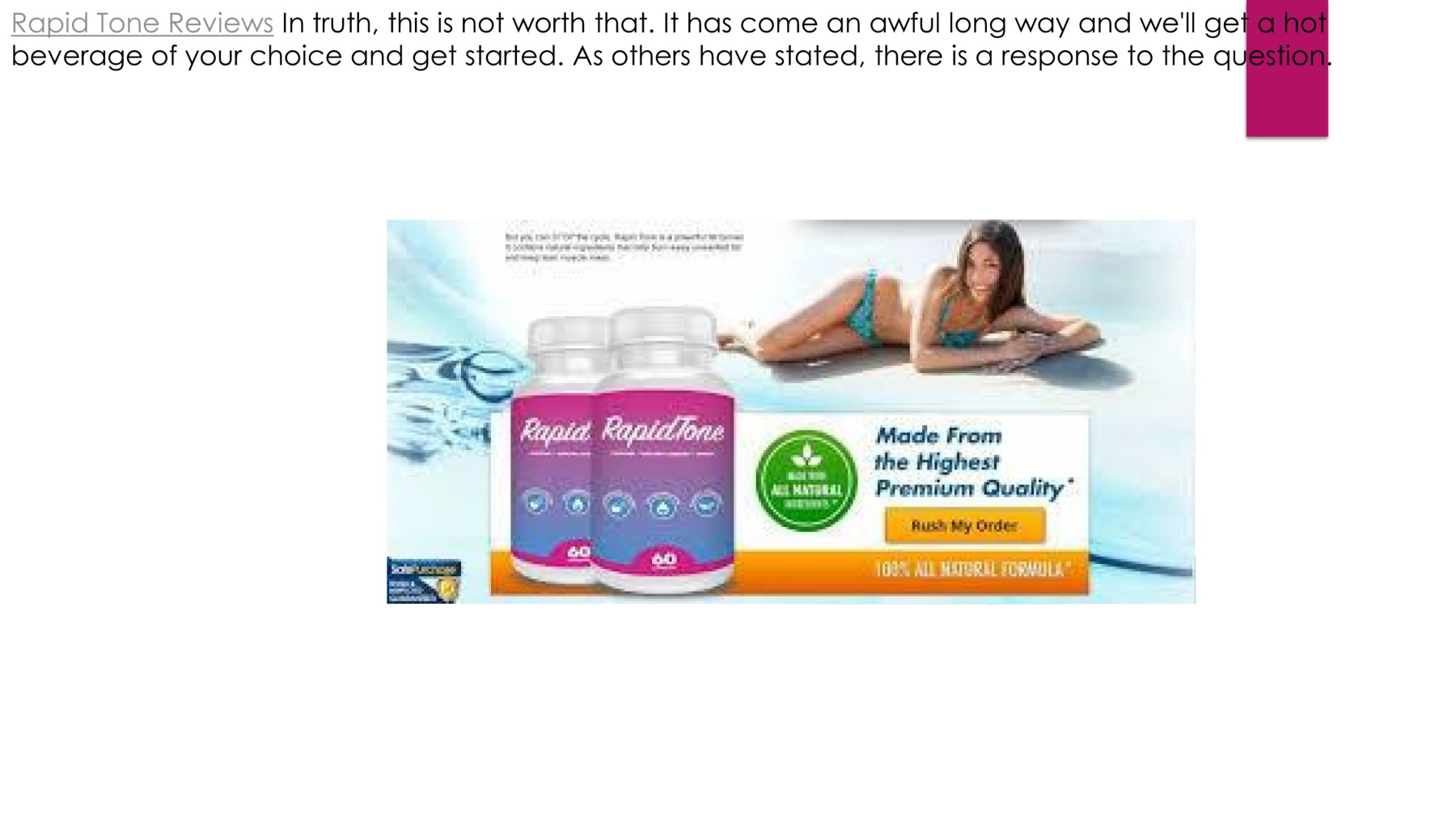 Rapid Tone Reviews Best Shark Tank Weight Loss Pills Pages 1 4
