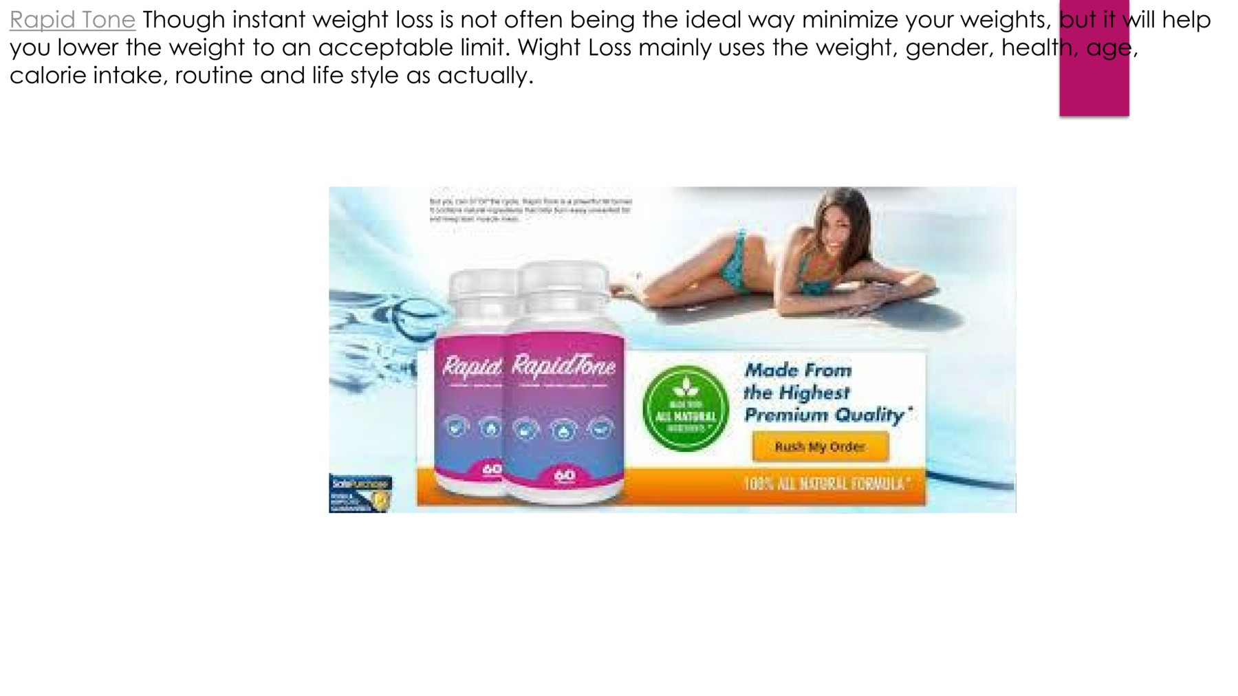 Rapid Tone Review Best Shark Tank Weight Loss Pills Pages 1 4