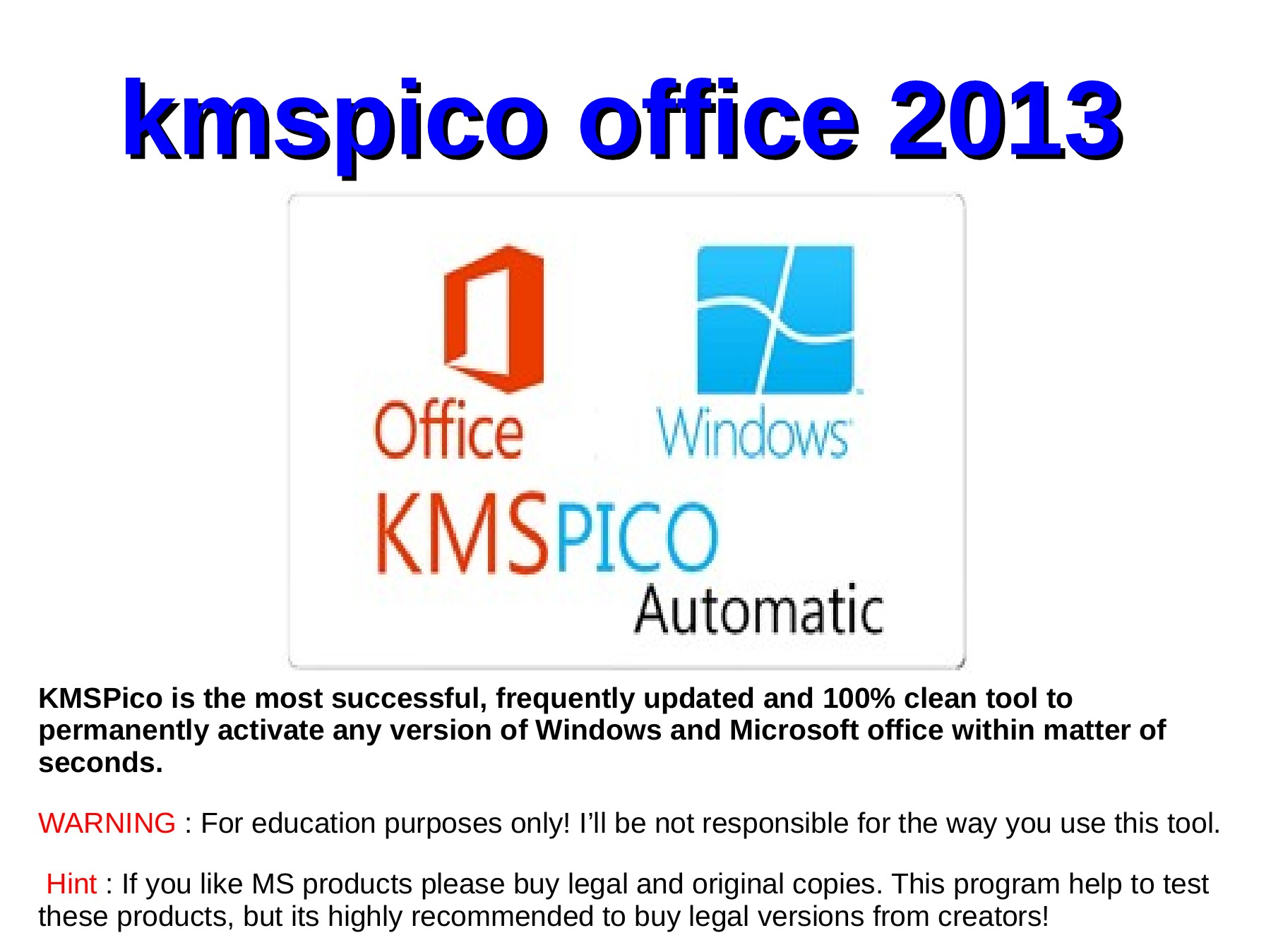 KMSpico office 2013 PDF Pages 1 - 7 - Text Version | AnyFlip