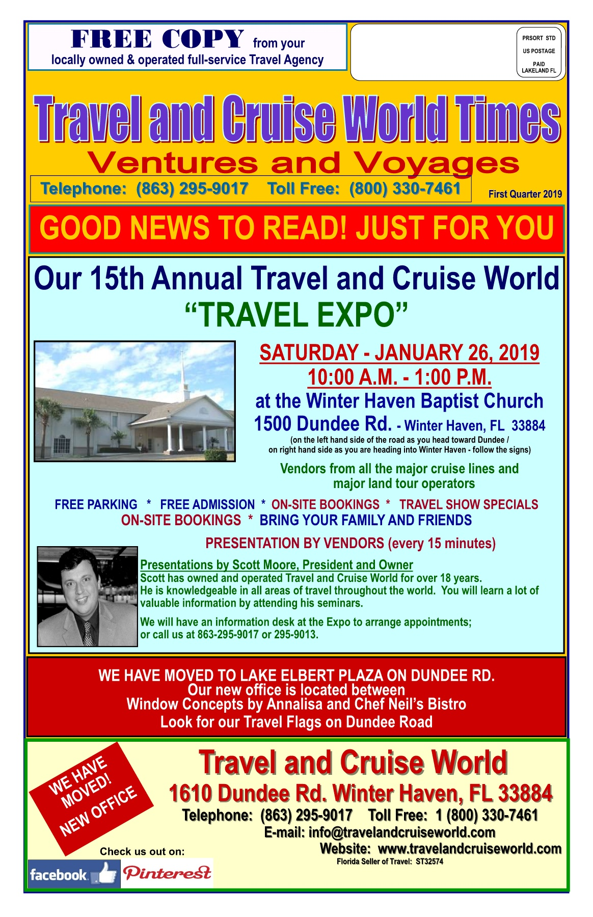da6ceed43ca3 2019 1st Quarter Travel and Cruise World Ventures and Voyages Newsletter