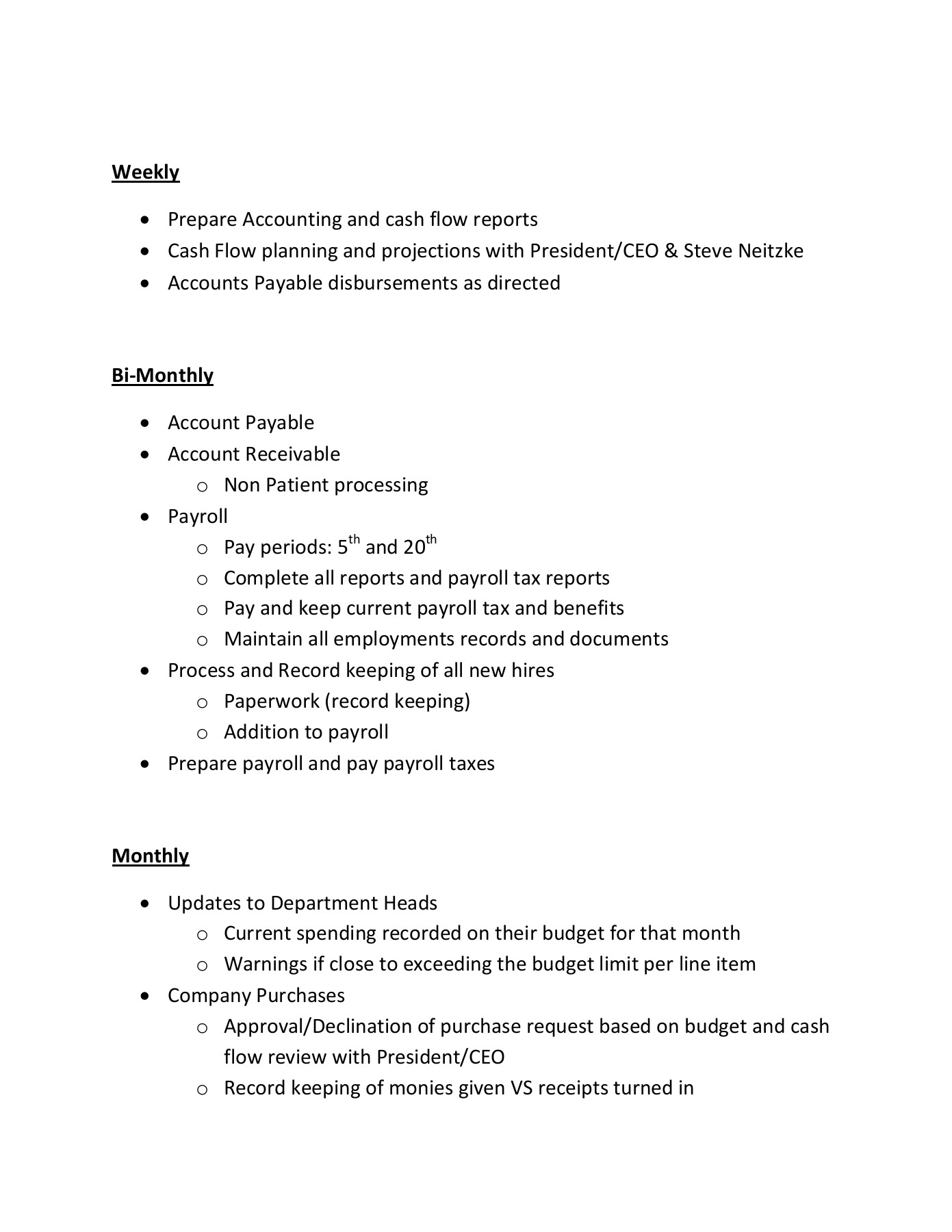 staff accountant job description (1) - Leader in Managed